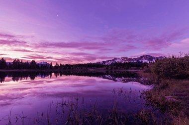 Mountain Lake Sunrise Reflection