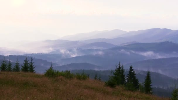 Příroda hory, timelapse mraky nebo mlha