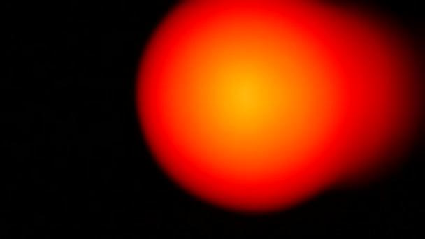 Oranžové světlo abstraktní černém pozadí