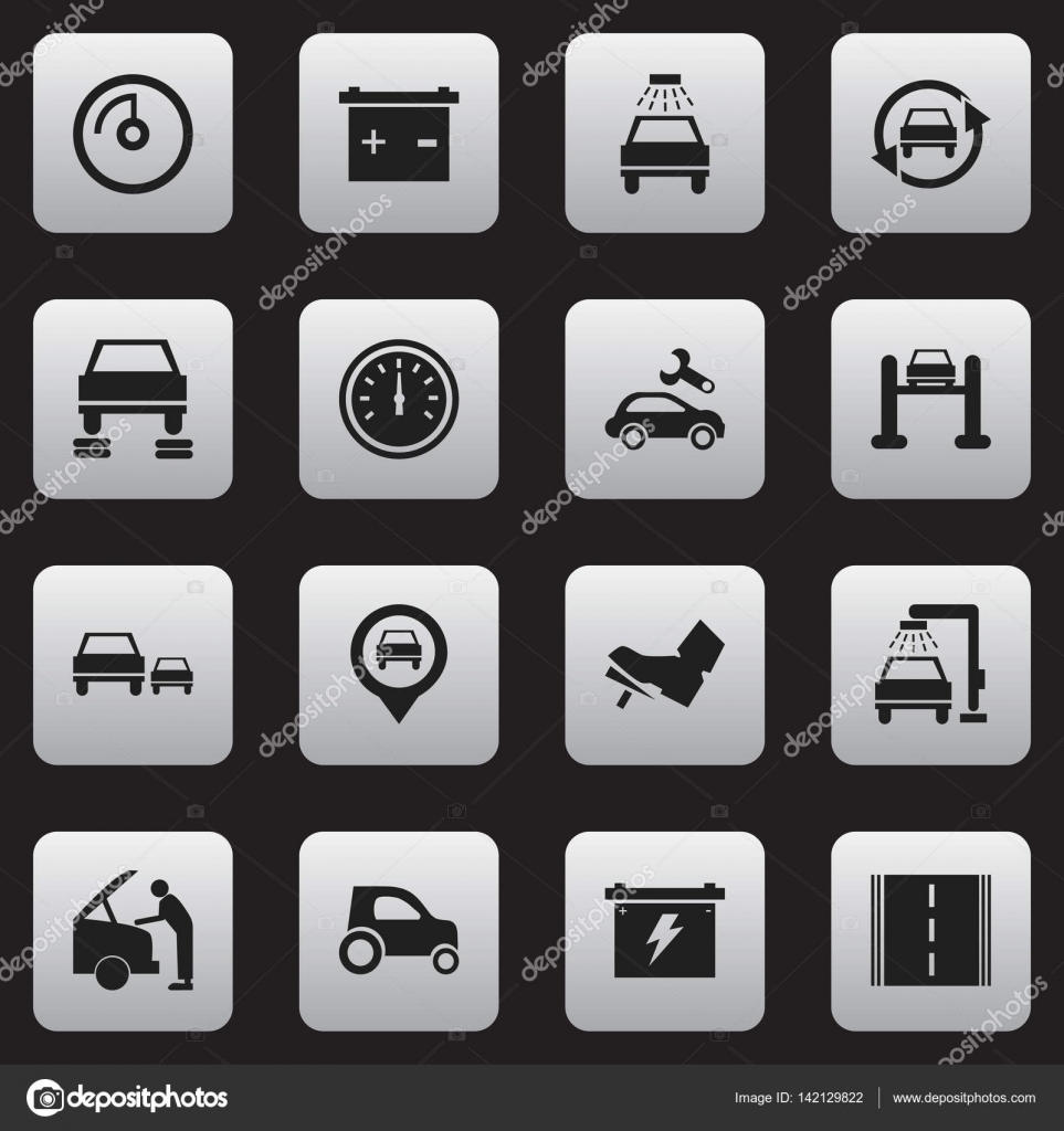 Set of 16 editable traffic icons includes symbols such as auto includes symbols such as auto service speed control biocorpaavc Gallery