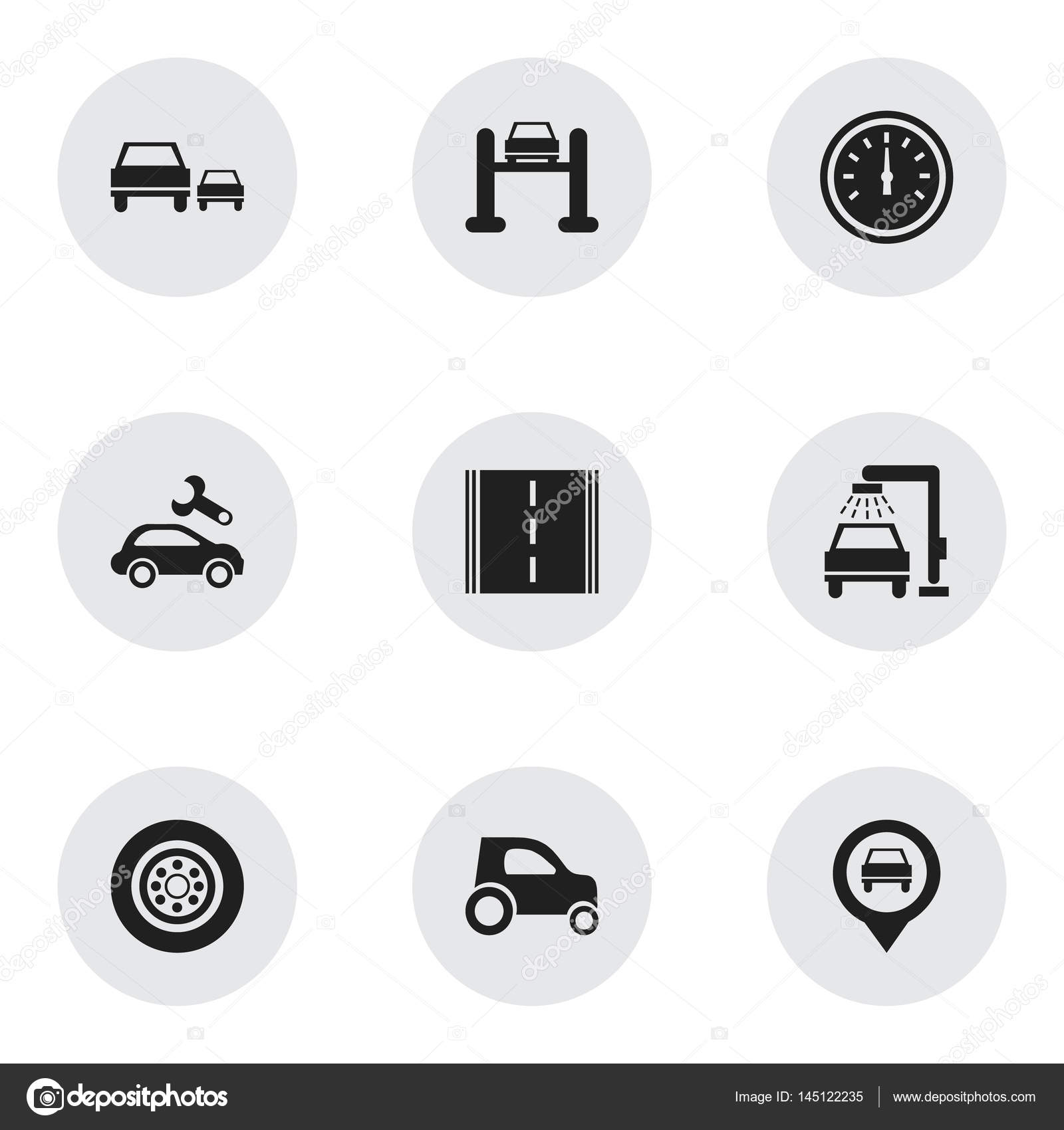 Set of 9 editable car icons includes symbols such as auto service set of 9 editable car icons includes symbols such as auto service race biocorpaavc Gallery