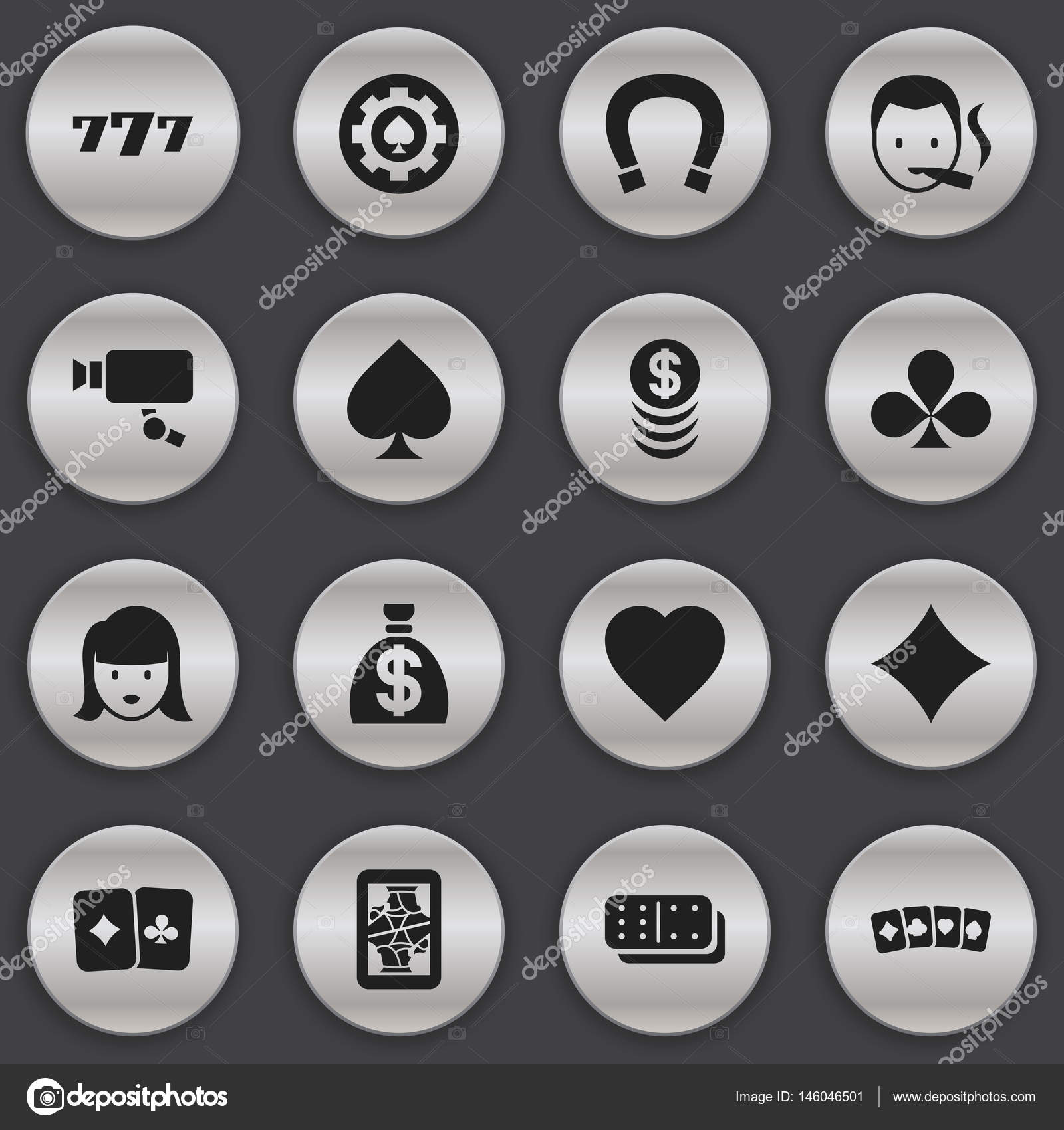Set of 16 editable excitement icons includes symbols such as set of 16 editable excitement icons includes symbols such as lucky seven luck charm biocorpaavc Image collections