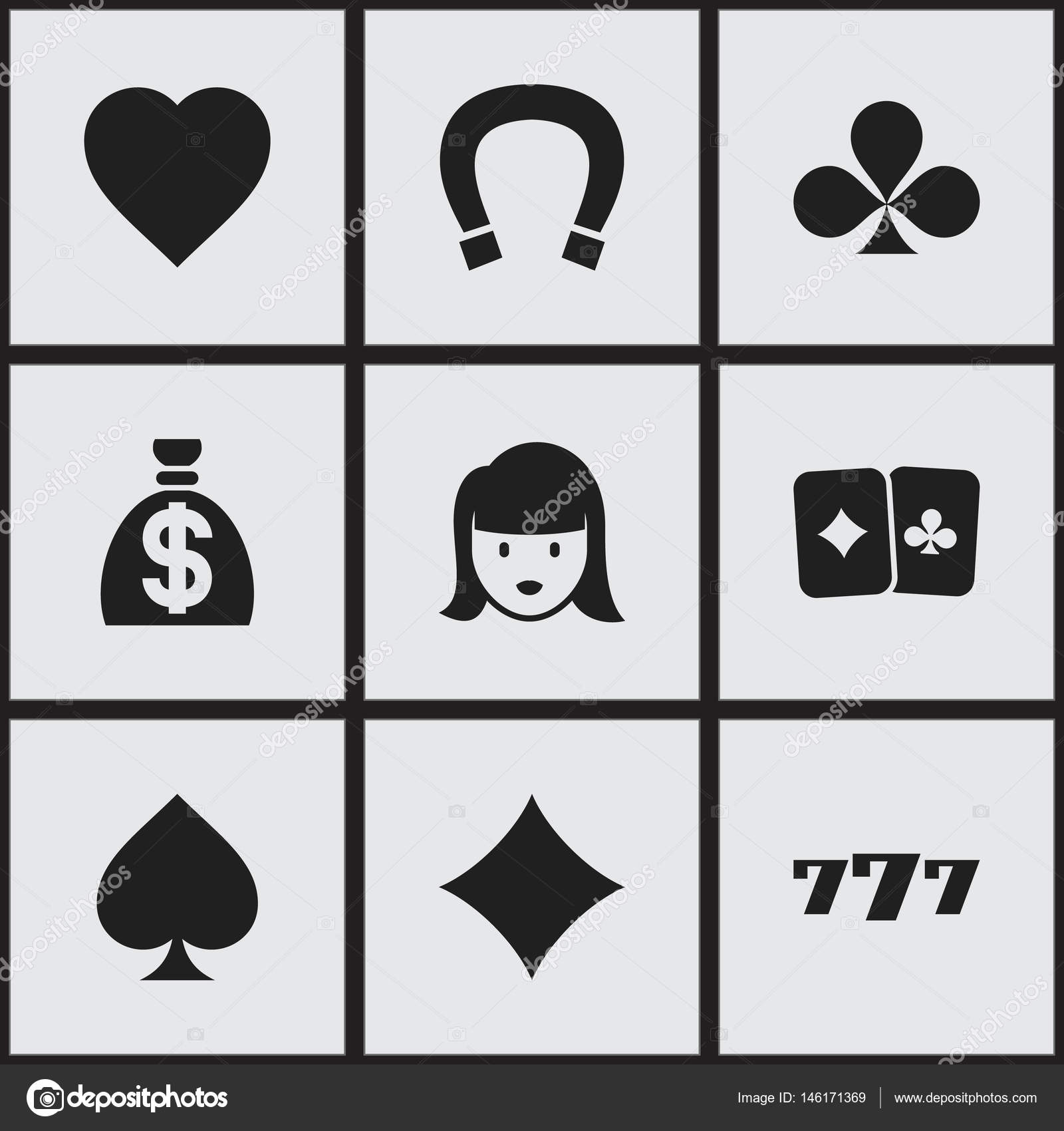 Set of 9 editable casino icons includes symbols such as luck includes symbols such as luck charm lucky seven biocorpaavc Image collections