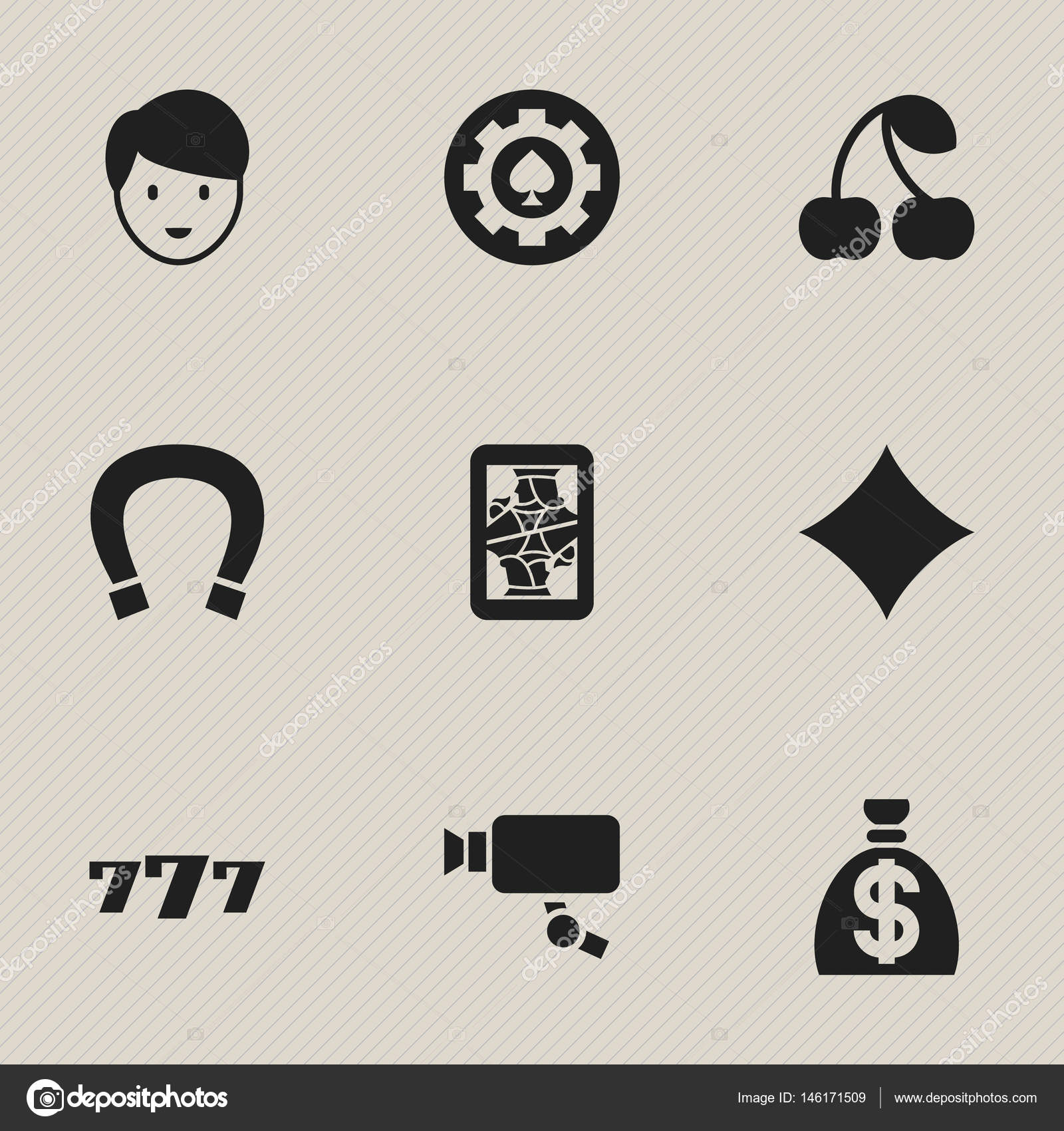 Set of 9 editable game icons includes symbols such as luck charm includes symbols such as luck charm moneybag biocorpaavc Image collections