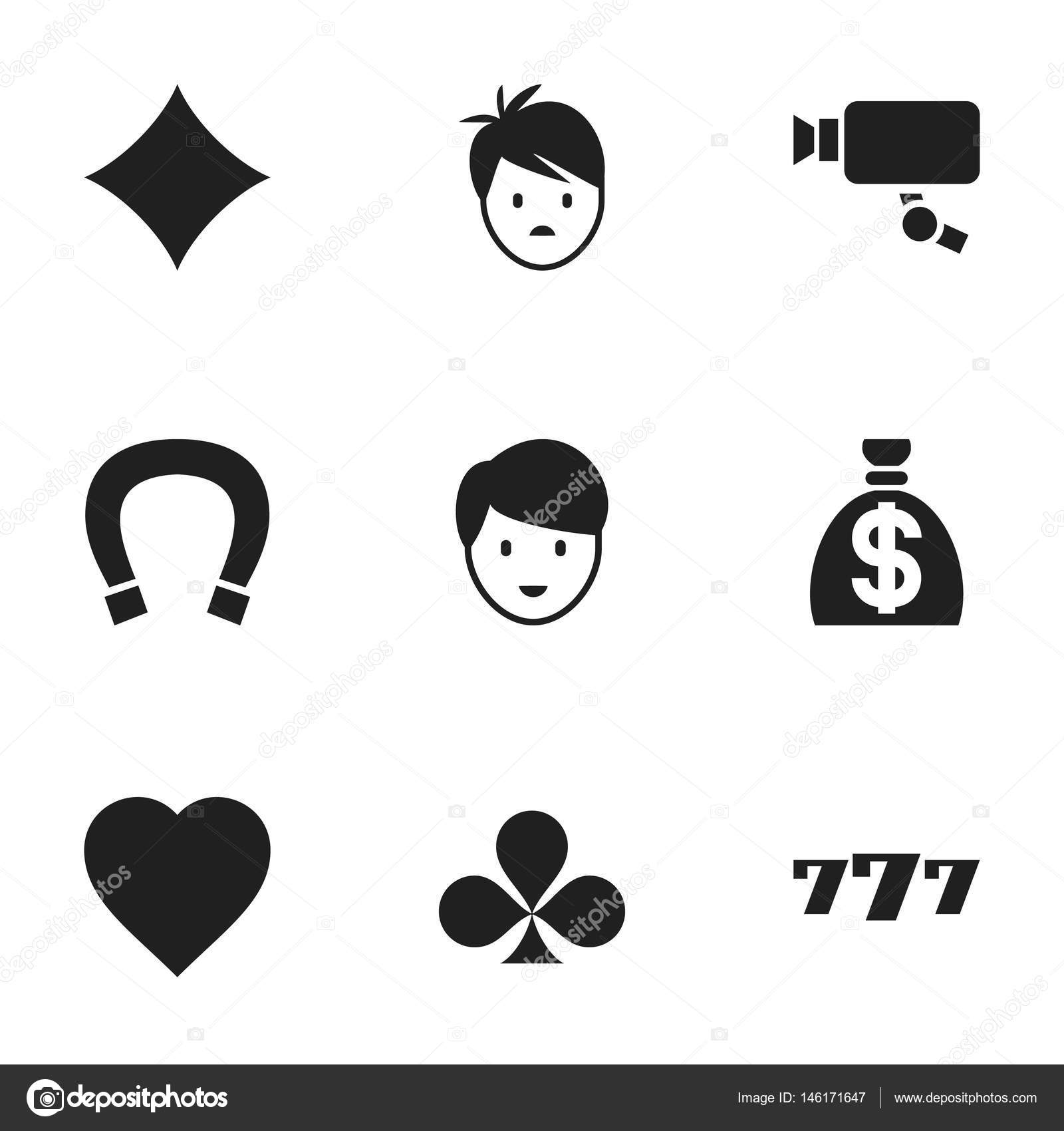 Set Of 9 Editable Excitement Icons Includes Symbols Such As Rhombus