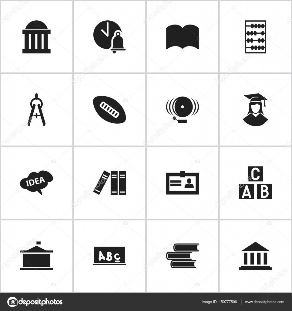 Set Of 16 Editable University Icons Includes Symbols Such As