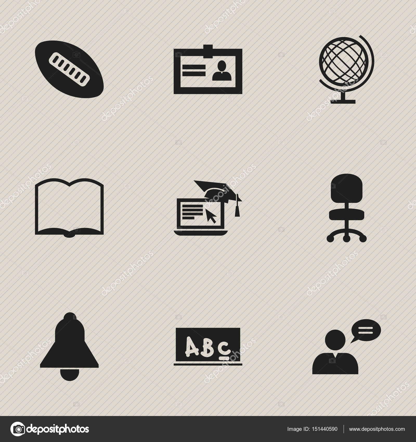 Set Of 9 Editable Science Icons Includes Symbols Such As