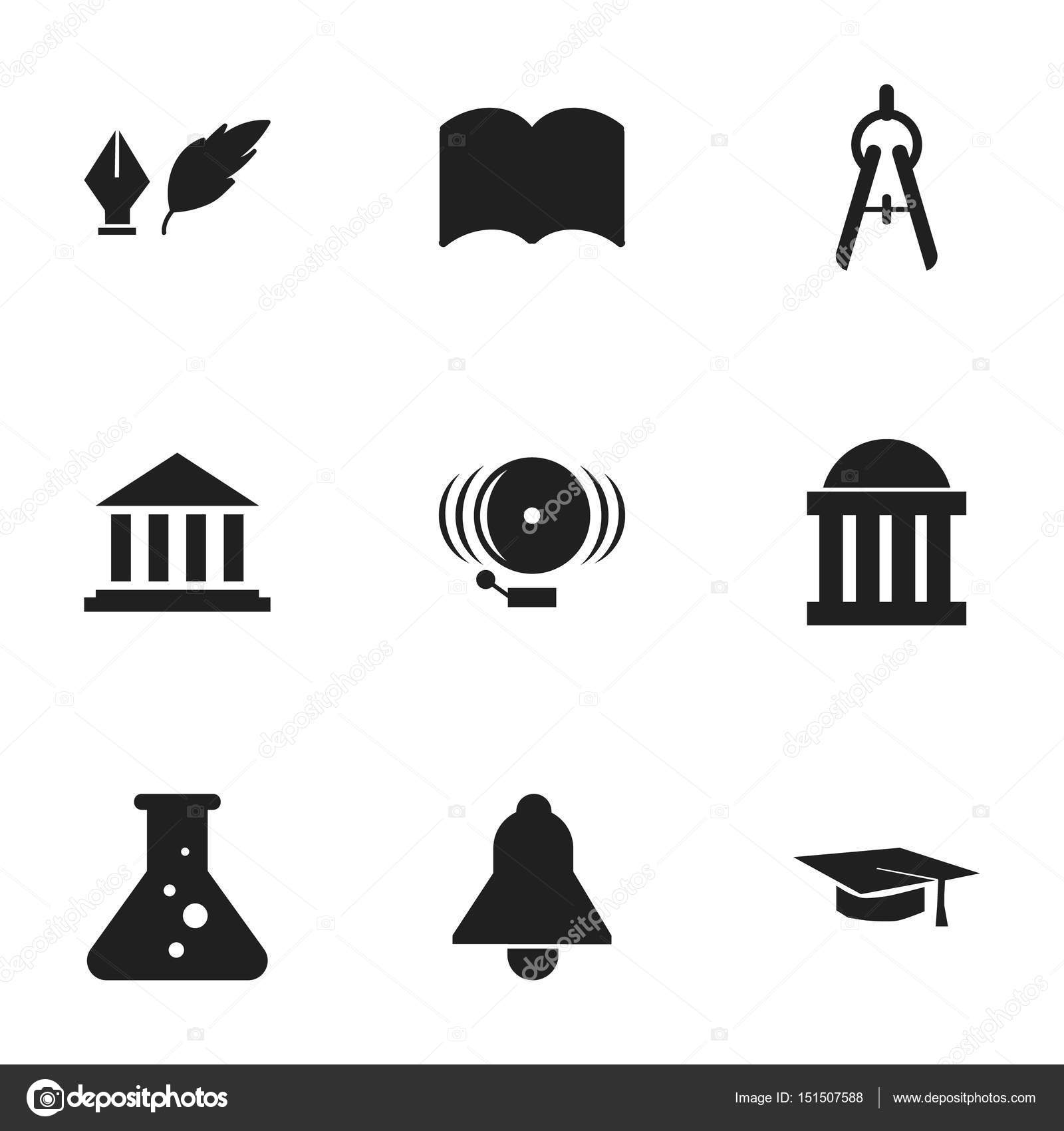 Set of 9 editable education icons includes symbols such as includes symbols such as dictionary math tool ring and more can be used for web mobile ui and infographic design vector by bestvectorelements buycottarizona Image collections