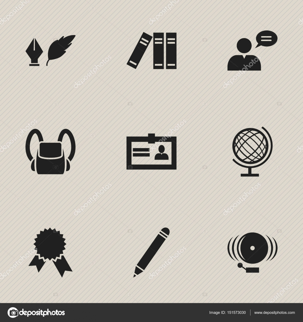 Set of 9 editable university icons includes symbols such as includes symbols such as certification ring victory 1betcityfo Image collections