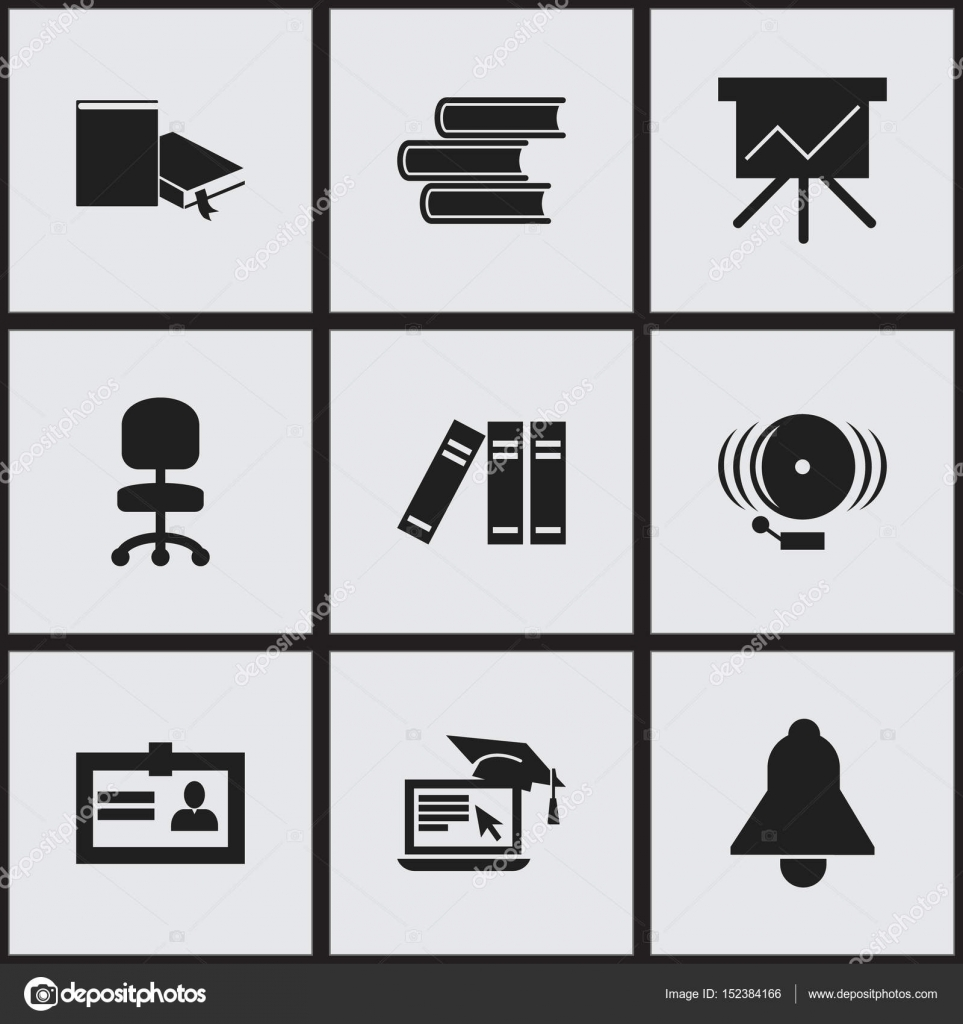 Set of 9 editable university icons includes symbols such as includes symbols such as certification bookshelf bell 1betcityfo Image collections
