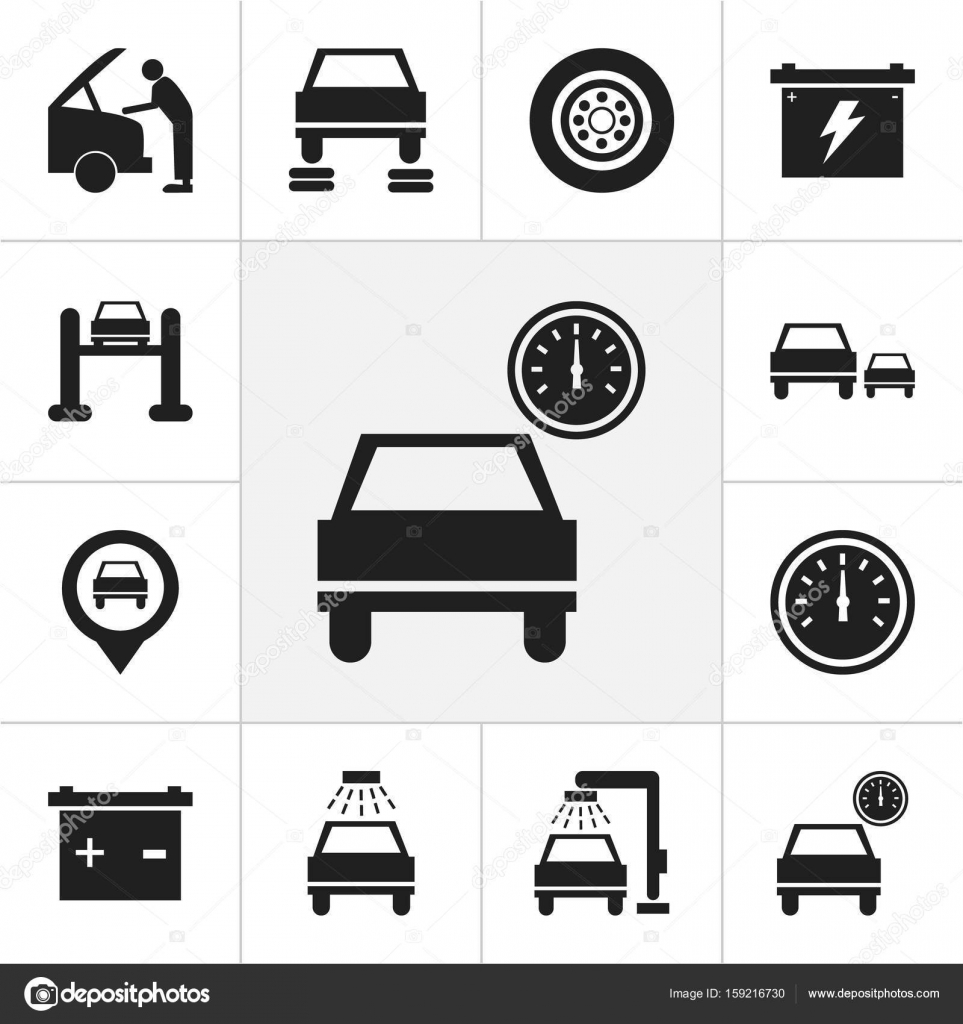 Set of 12 editable car icons includes symbols such as automobile set of 12 editable car icons includes symbols such as automobile mechanic vehicle biocorpaavc Gallery