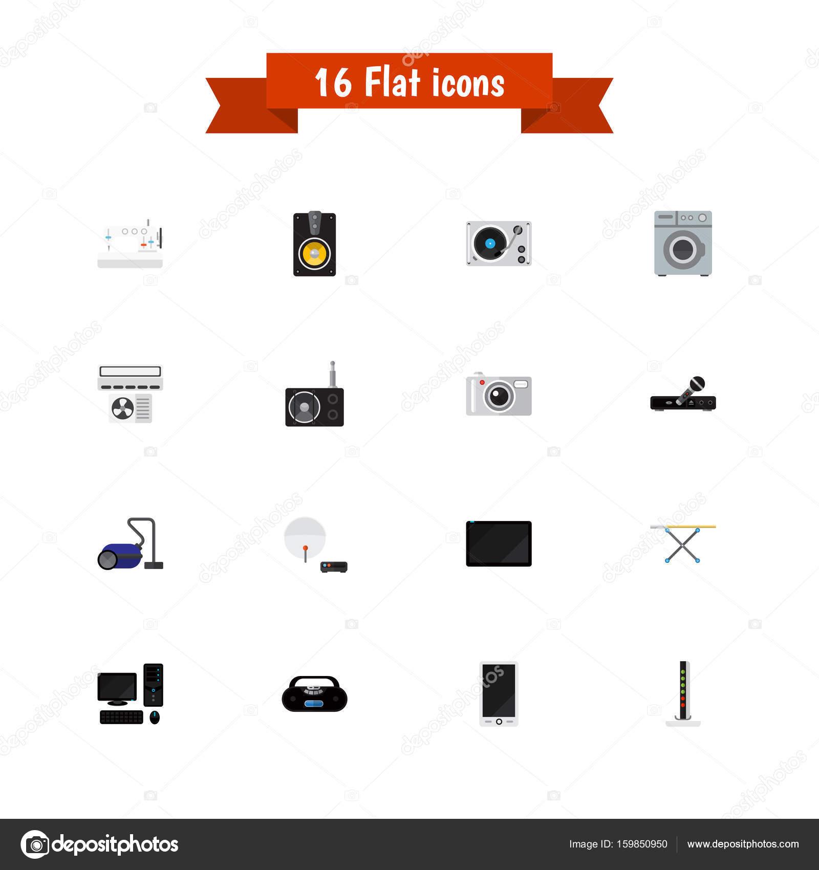 conjunto de 16 cones tech edit vel inclui s mbolos como plataforma girat ria lavanderia. Black Bedroom Furniture Sets. Home Design Ideas