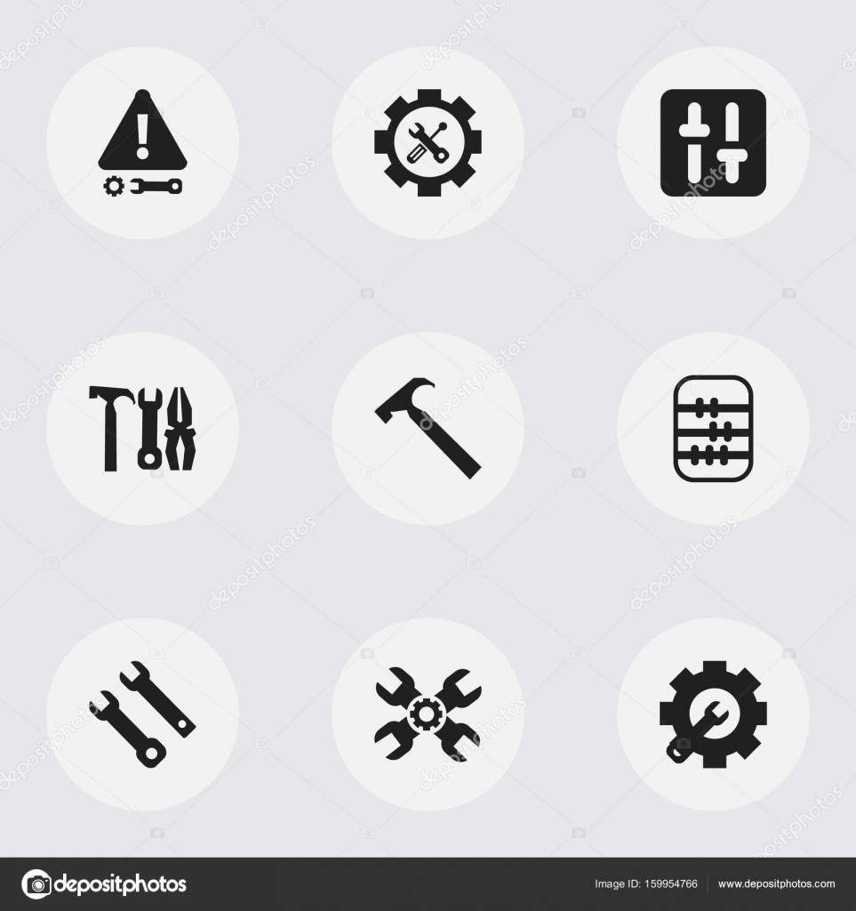 Set of 9 editable service icons includes symbols such as caution set of 9 editable service icons includes symbols such as caution technical support biocorpaavc Gallery