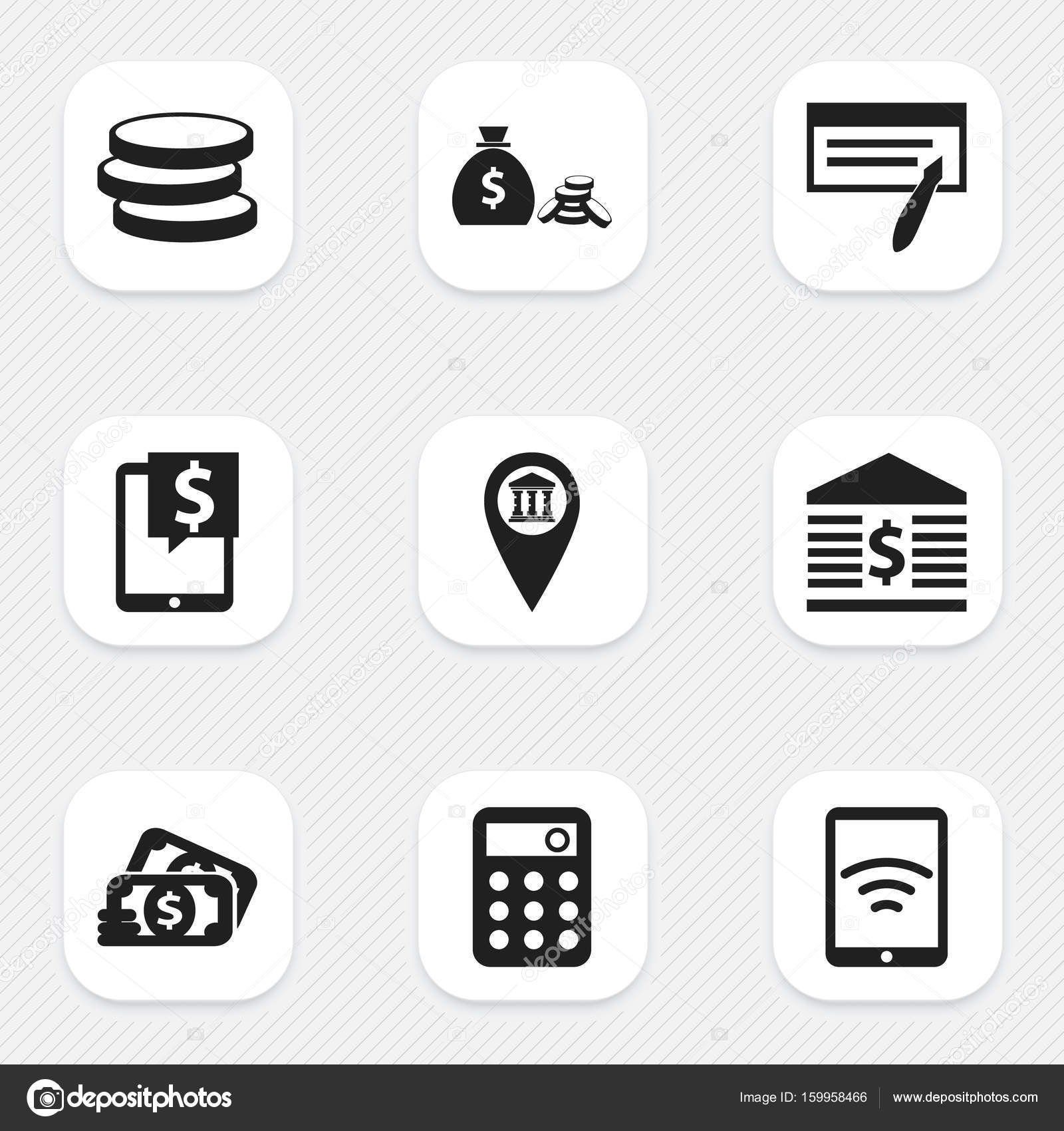 Set Of 9 Editable Investment Icons Includes Symbols Such As Market