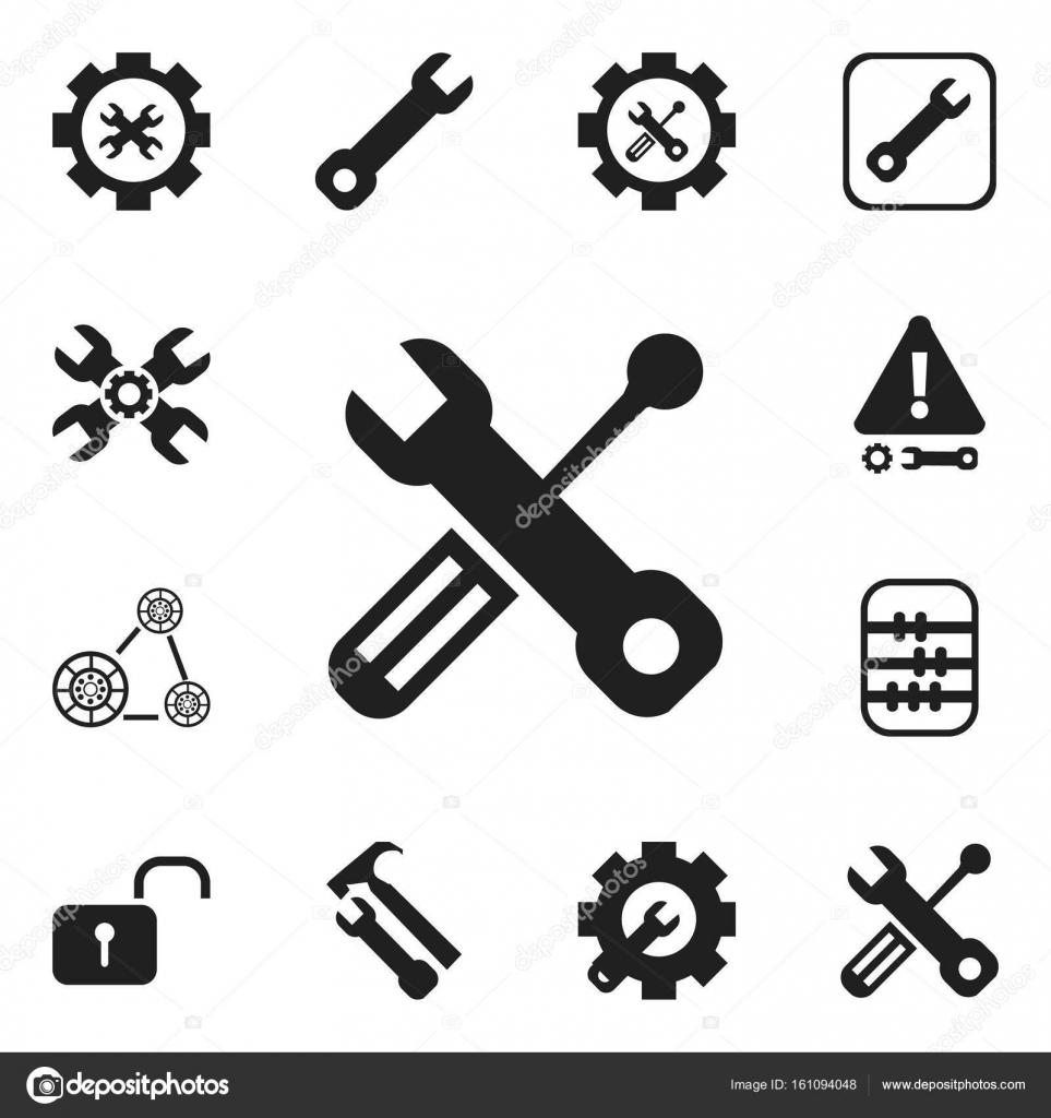 Set von 12 editierbare Toolkit Icons. Enthält Symbole wie ...
