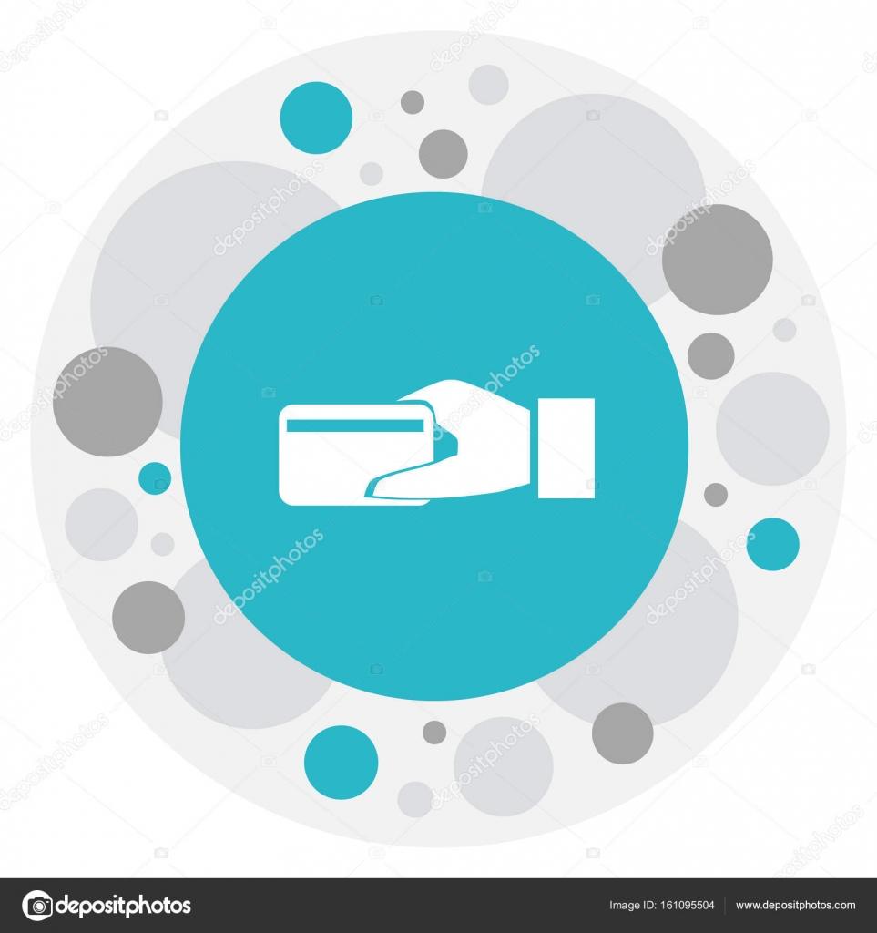 Vektor-Illustration von Bank-Symbol auf elektronische ...
