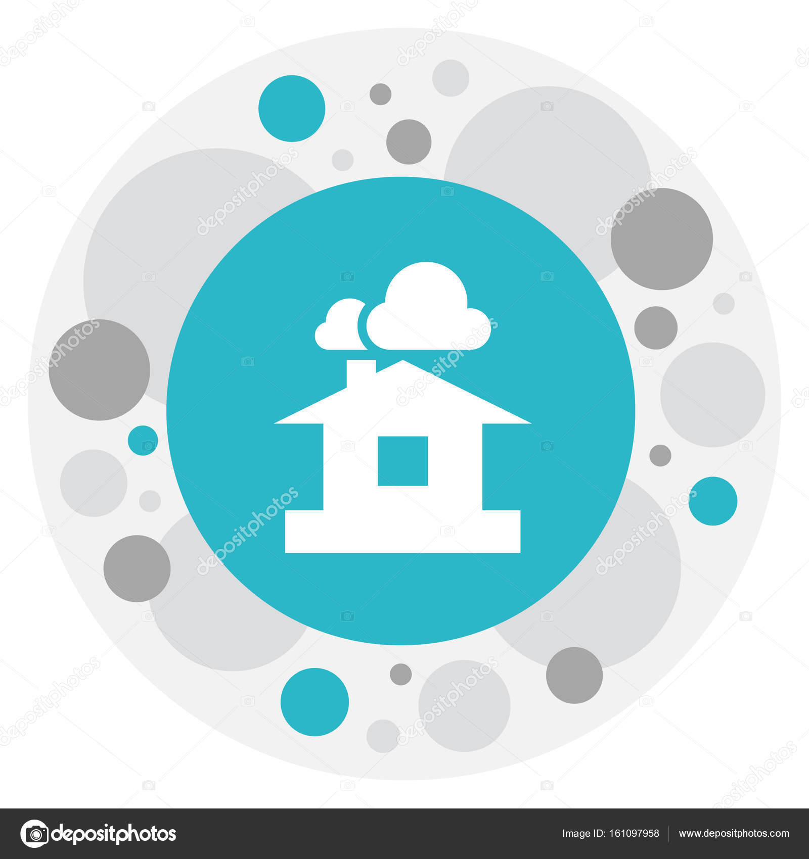 Vector Illustration Of Air Symbol On Shelter Icon. Premium Quality Isolated  Domicile Element In Trendy Flat Style. 10