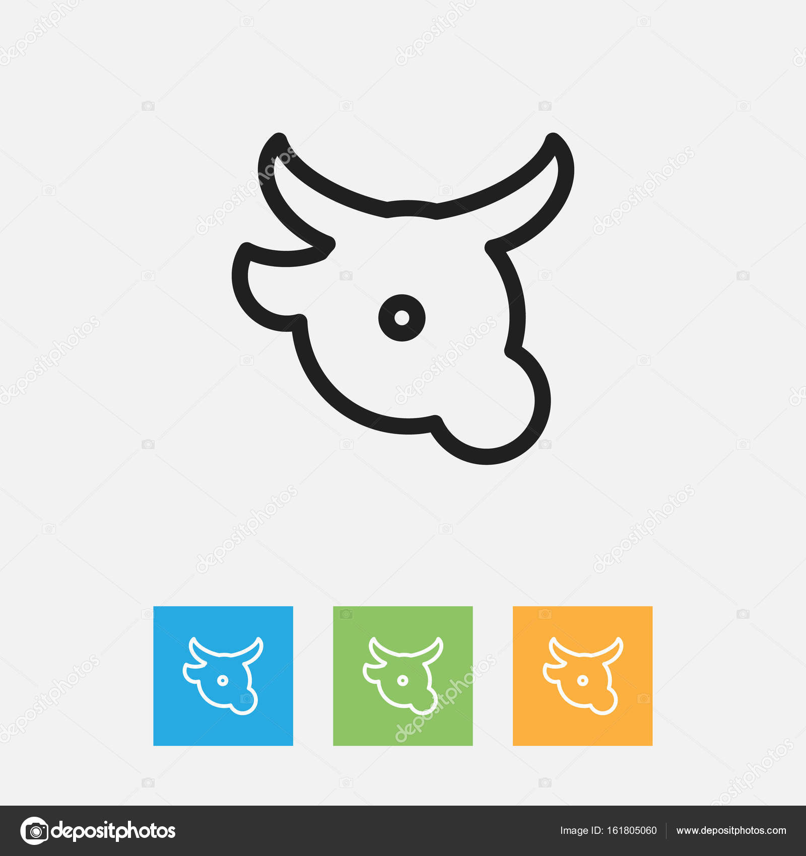 Vector Illustration Of Meal Symbol On Veal Outline Premium Quality
