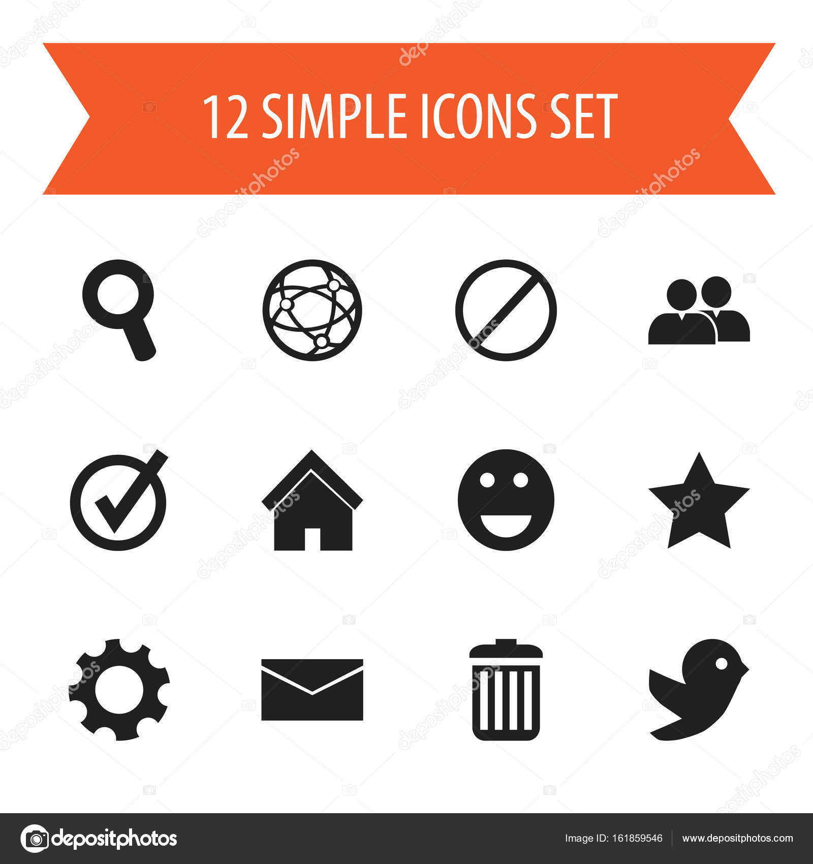 Set of 12 editable internet icons includes symbols such as deny set of 12 editable internet icons includes symbols such as deny mail group biocorpaavc
