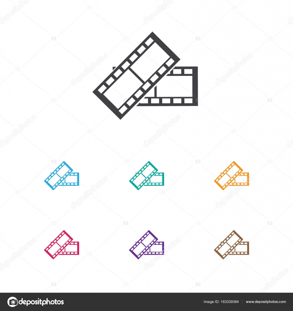 Vector Illustration Of Filming Symbol On Film Tape Icon