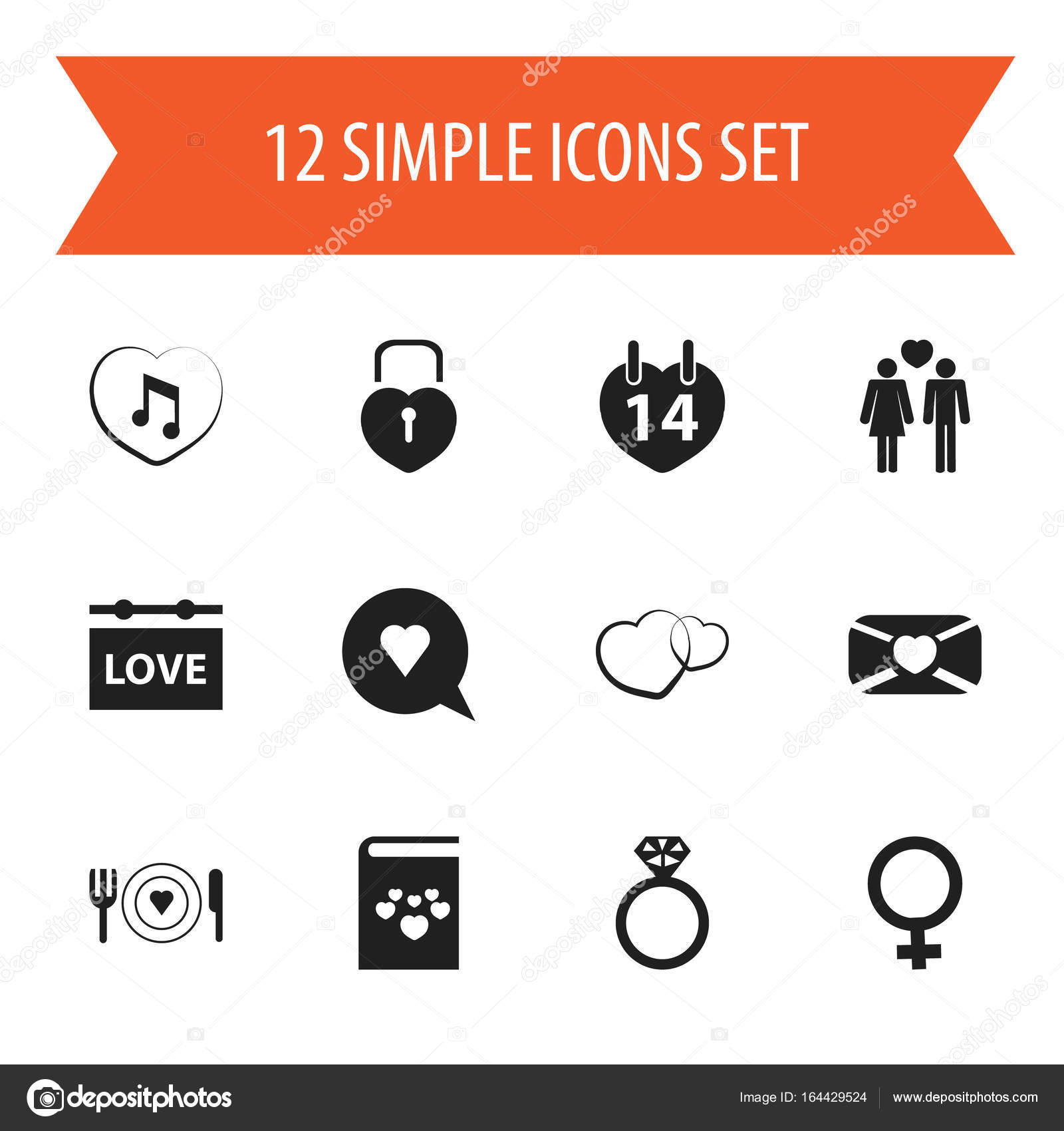 Set Of 12 Editable Heart Icons Includes Symbols Such As Woman