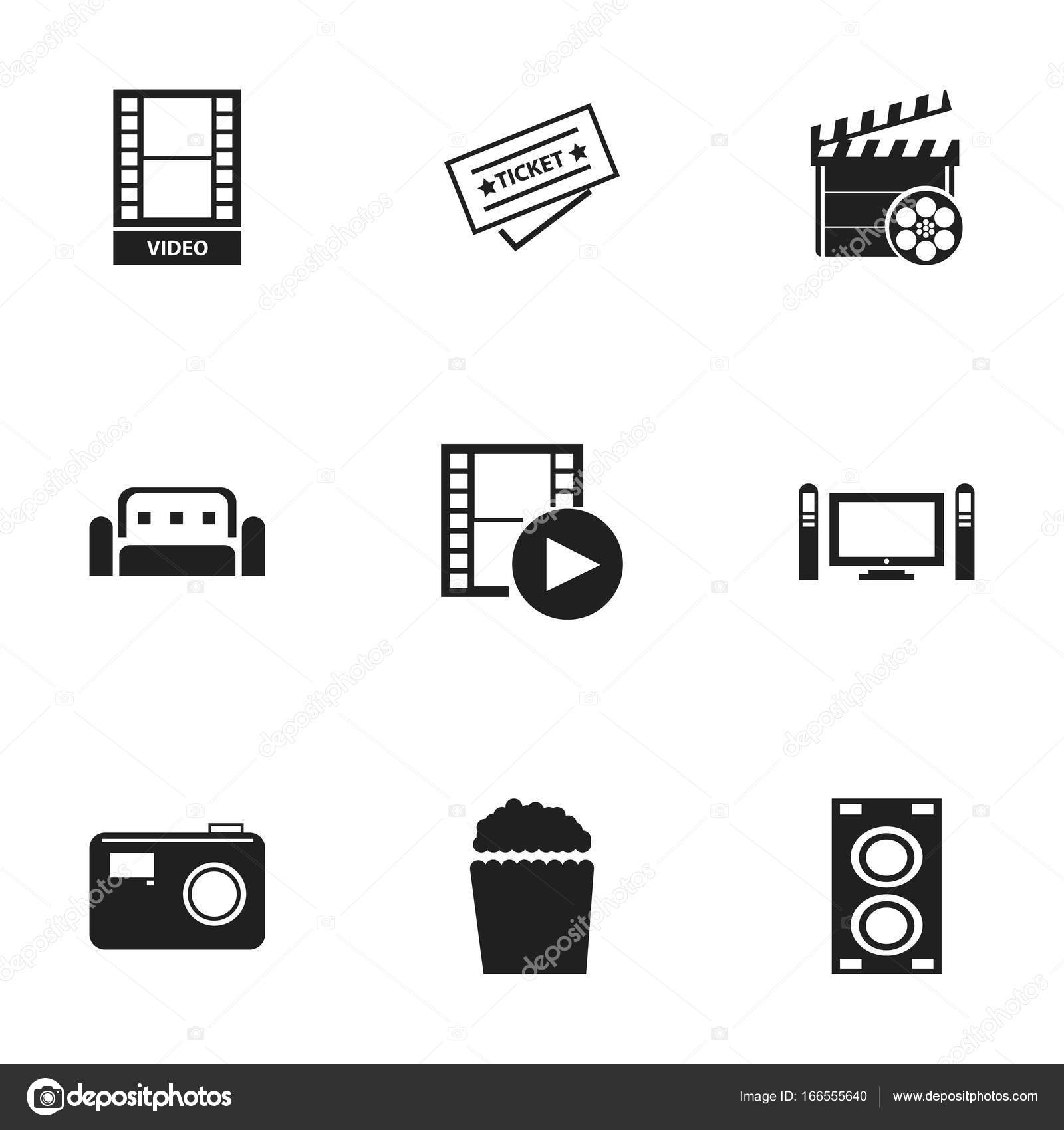 Set Of 9 Editable Filming Icons  Includes Symbols Such As