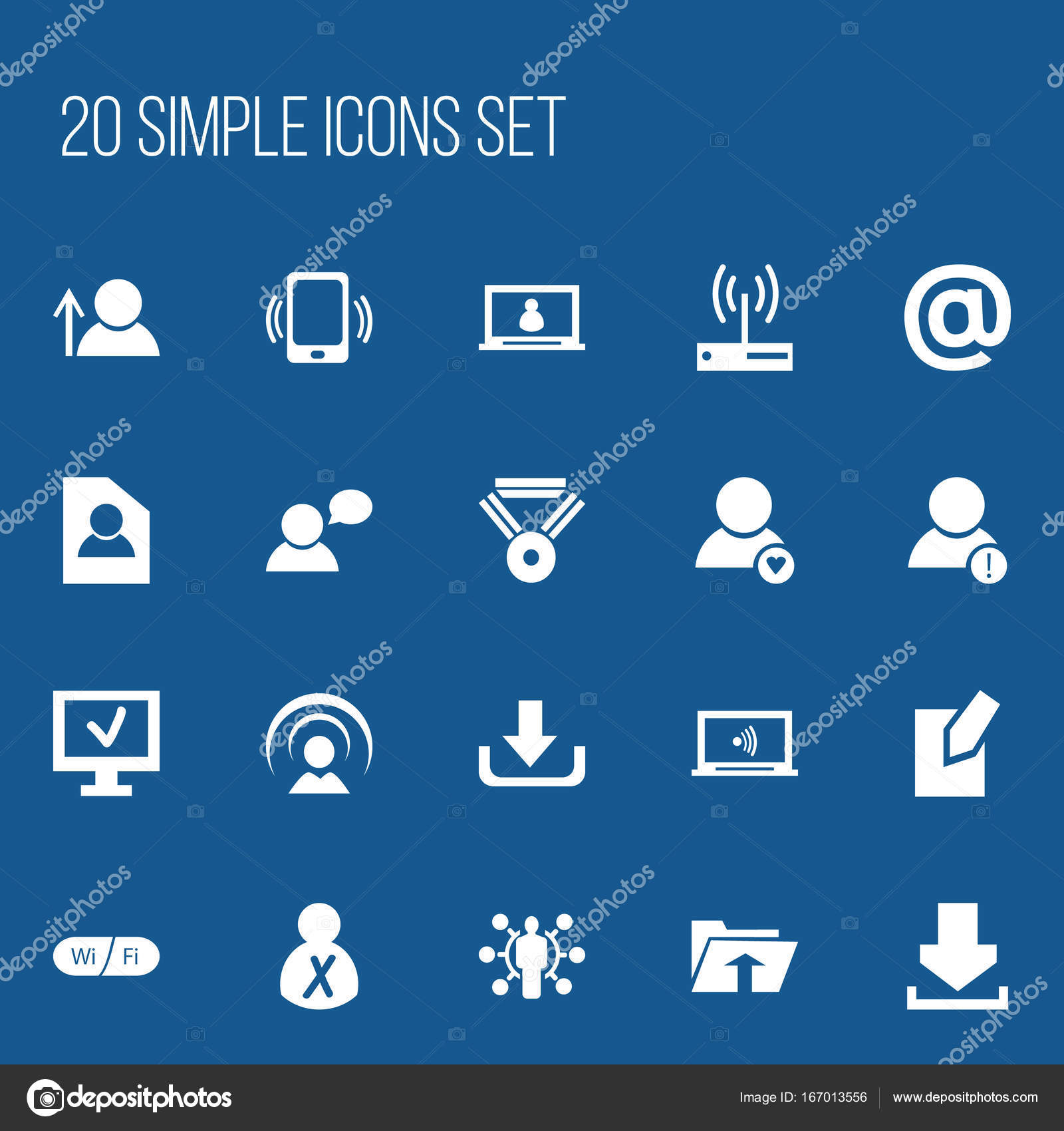 Set of 20 editable internet icons includes symbols such as medal set of 20 editable internet icons includes symbols such as medal account skill biocorpaavc