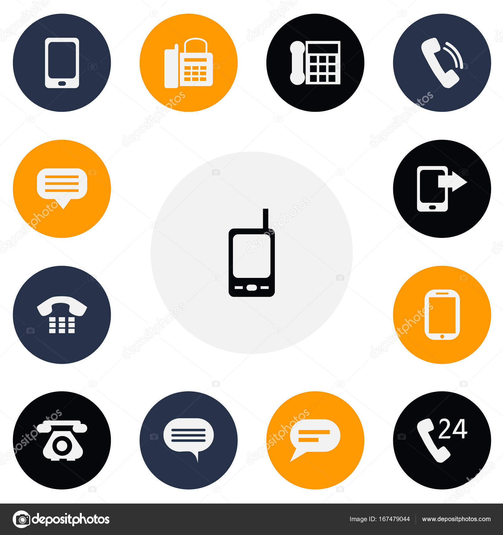 Set Of 13 Editable Phone Icons Includes Symbols Such As Tablet