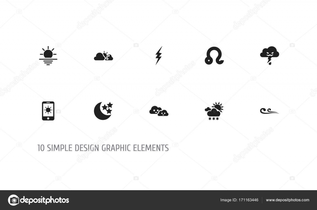Set Of 10 Editable Air Icons. Includes Symbols Such As High Voltage ...