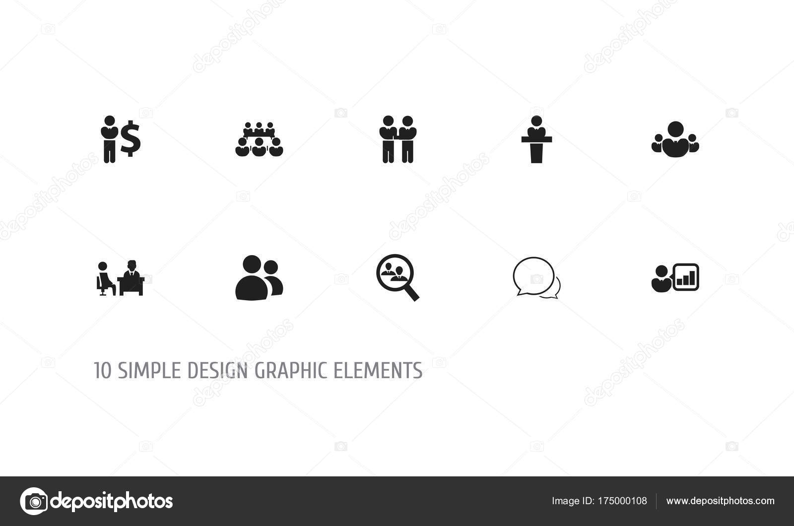 Set Of 10 Editable Cooperation Icons Includes Symbols Such As