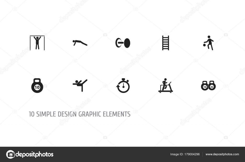 Set Of 10 Editable Sport Icons Includes Symbols Such As Street