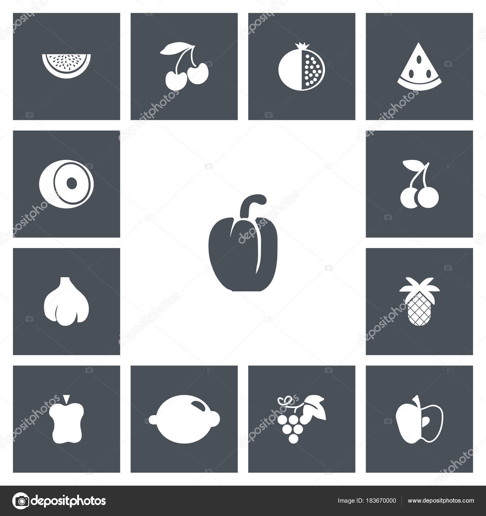 set of 13 editable dessert icons includes symbols such as cherry