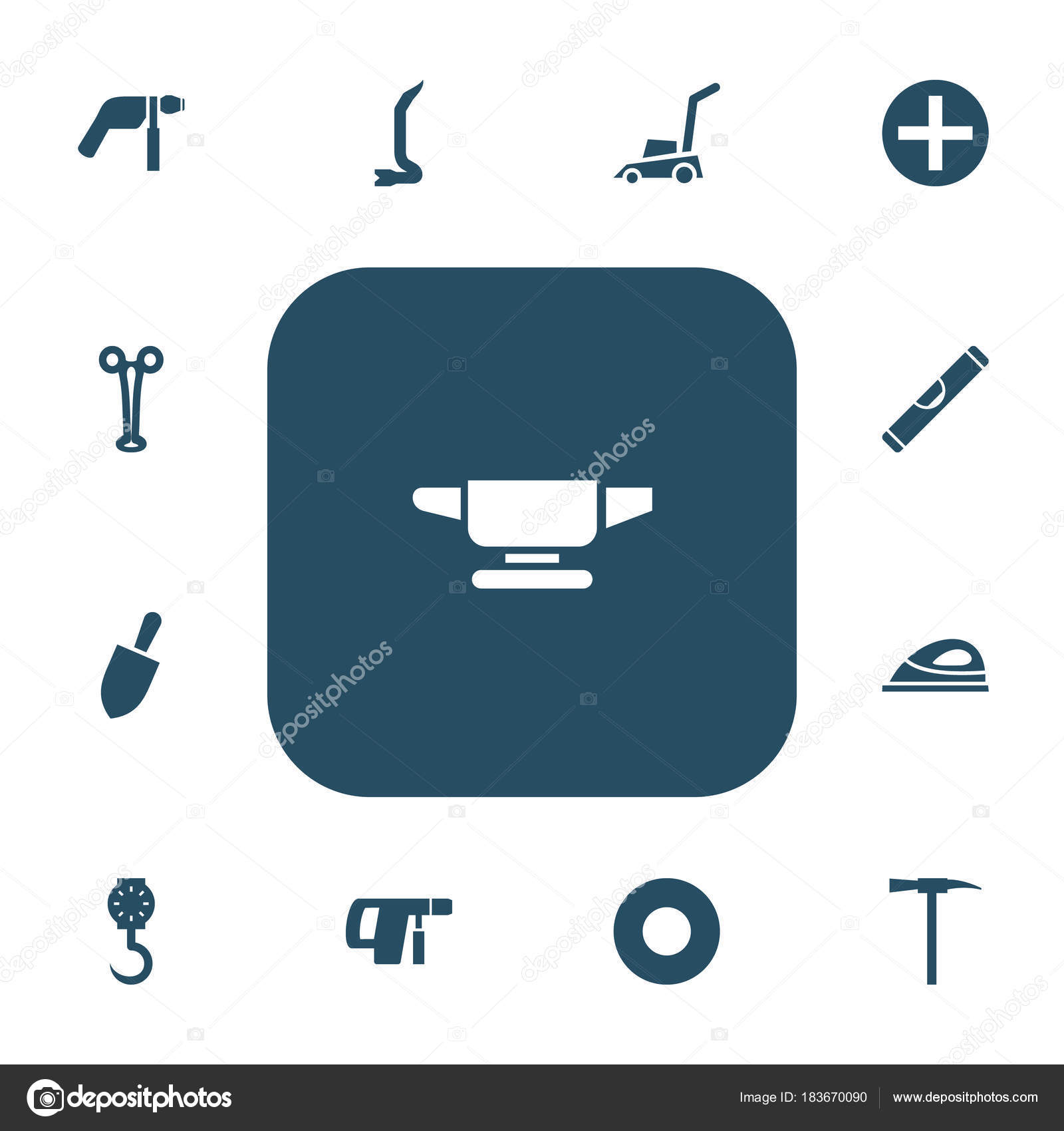 Set von 13 bearbeitbare Vorrichtung Icons. Enthält Symbole wie ...