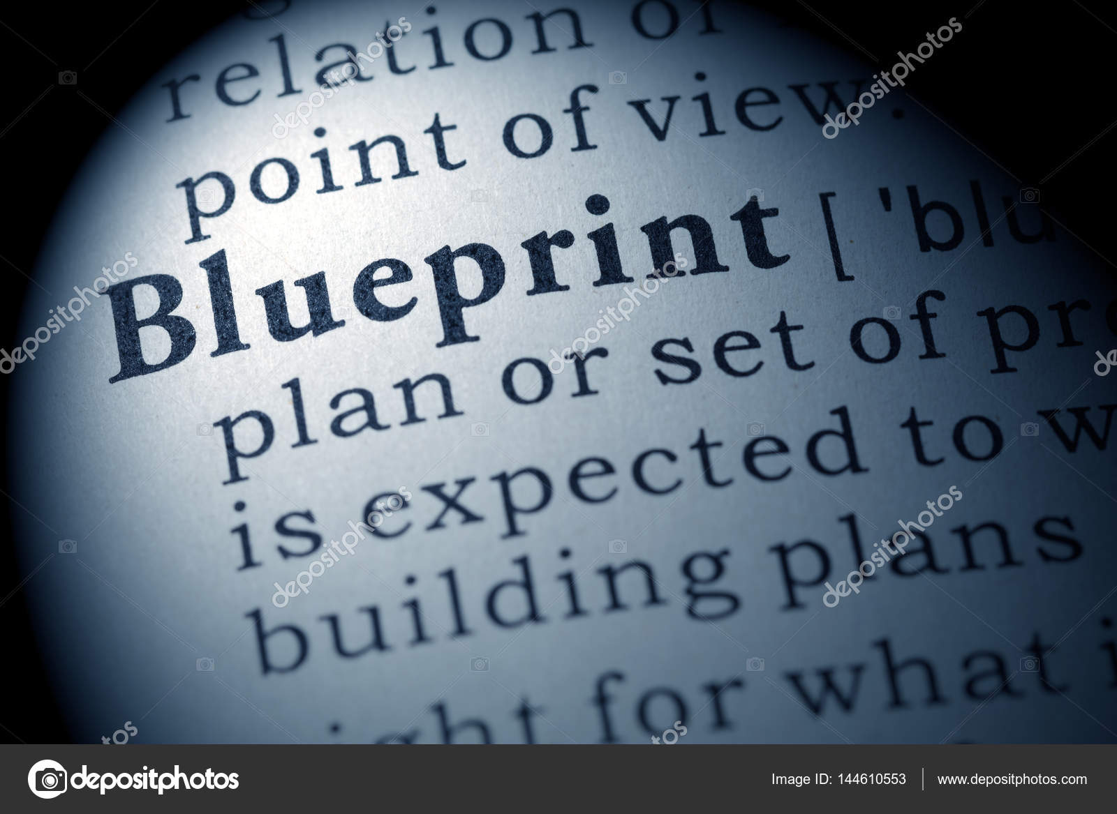 Definition of blueprint stock photo devon 144610553 definition of blueprint stock photo malvernweather