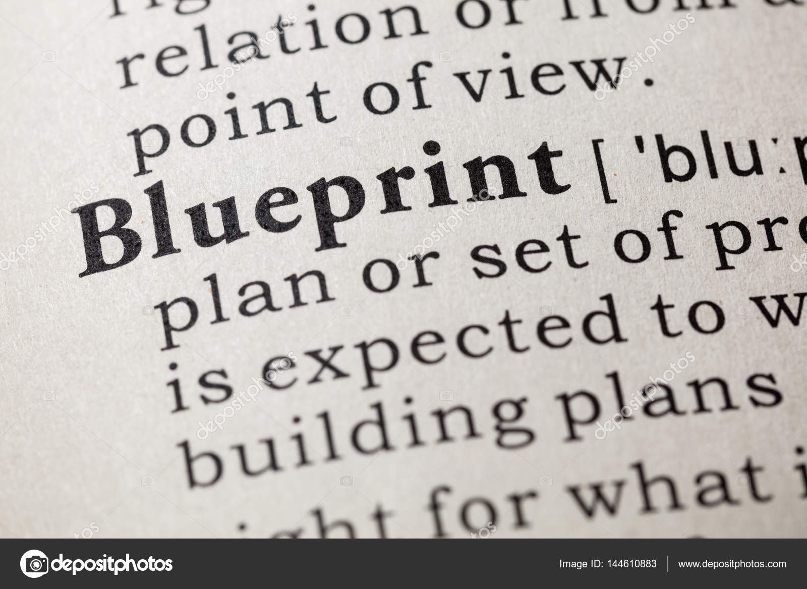 Definition of blueprint stock photo devon 144610883 definition of blueprint stock photo malvernweather Choice Image
