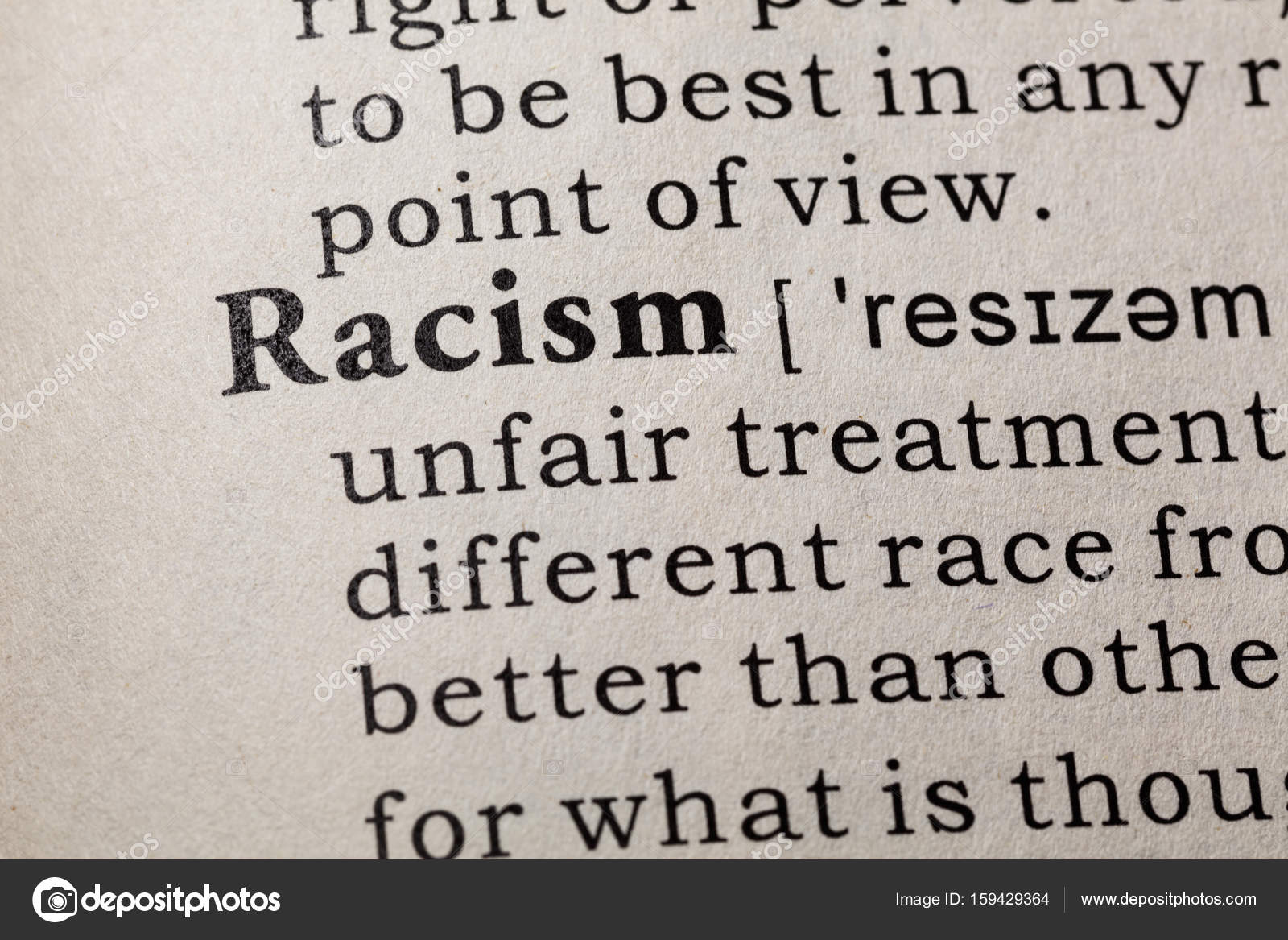definition of racism — stock photo © devon #159429364