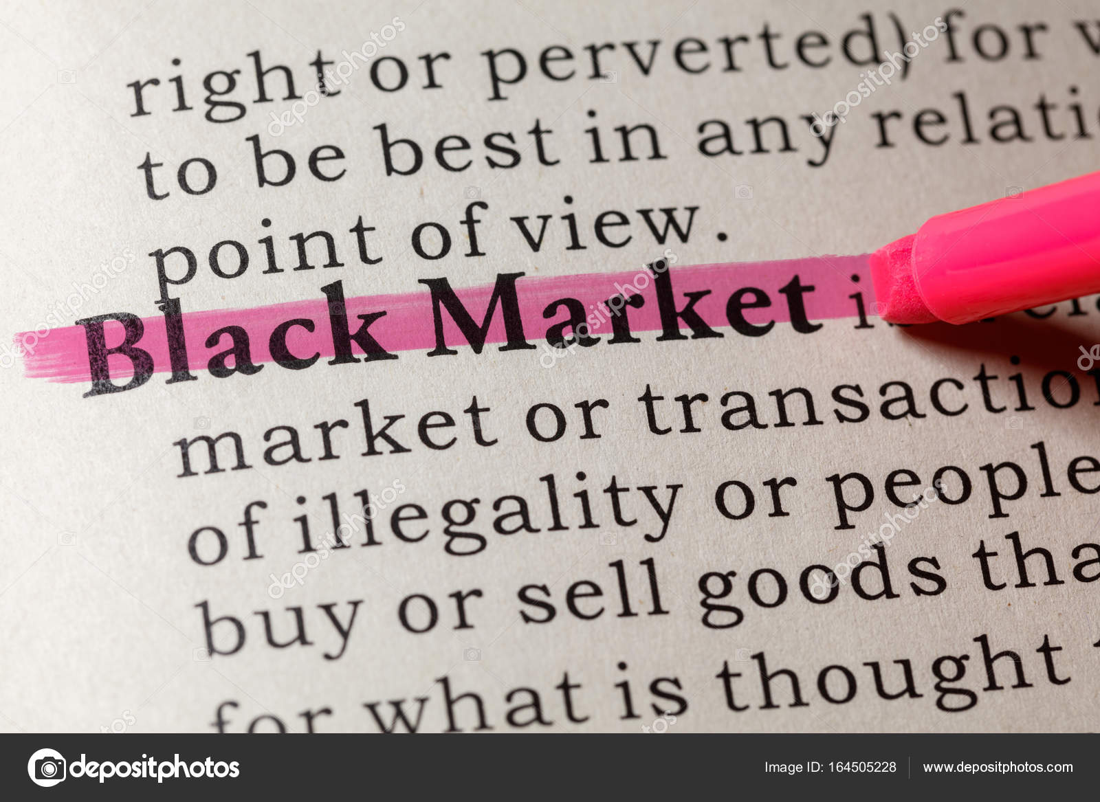 Definition of black market — Stock Photo © Devon #164505228