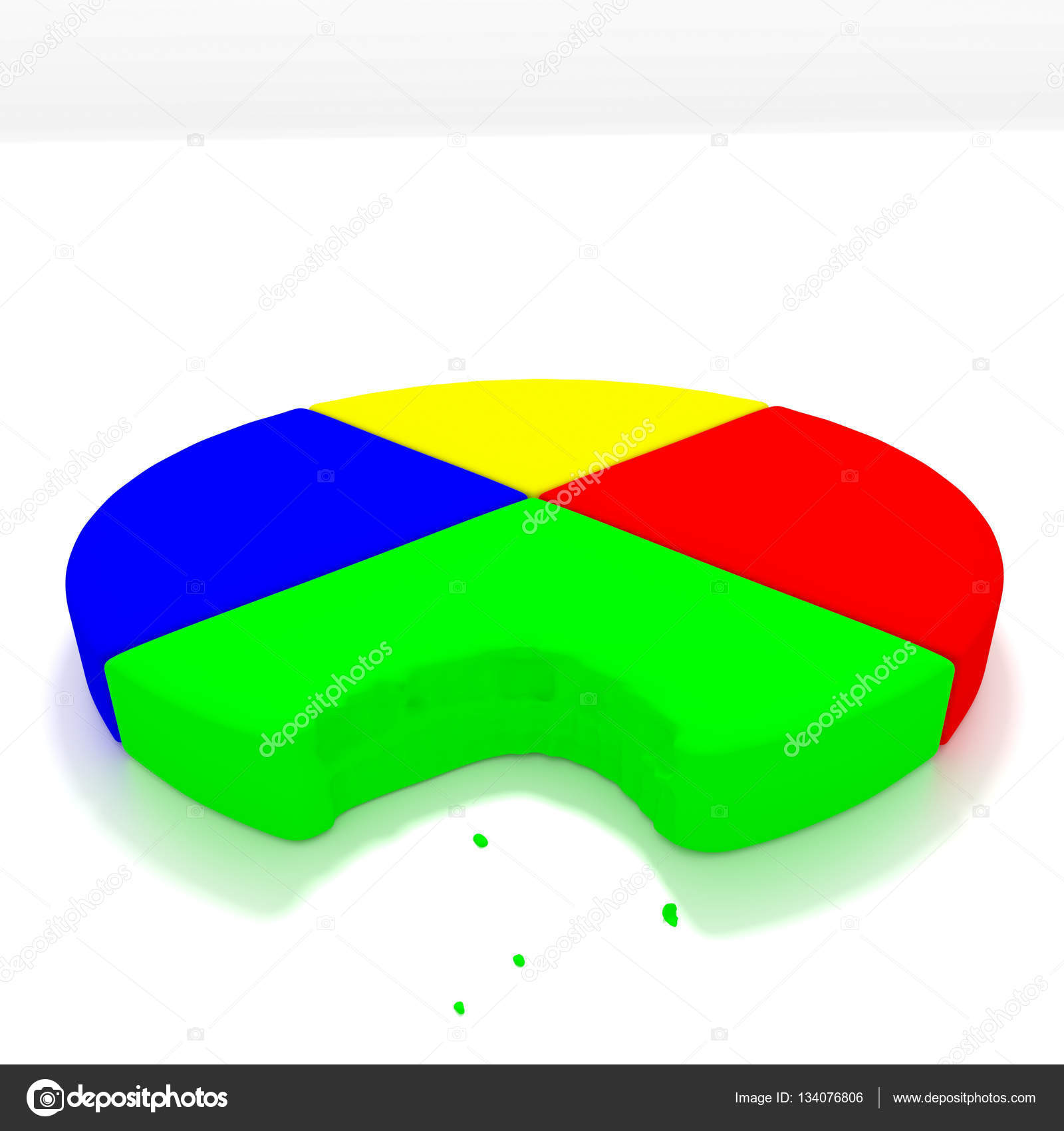 Pie chart bite stock photo matt32767 134076806 a 3d render of a pie chart one a reflective white background with a bite taken out of it photo by matt32767 nvjuhfo Choice Image