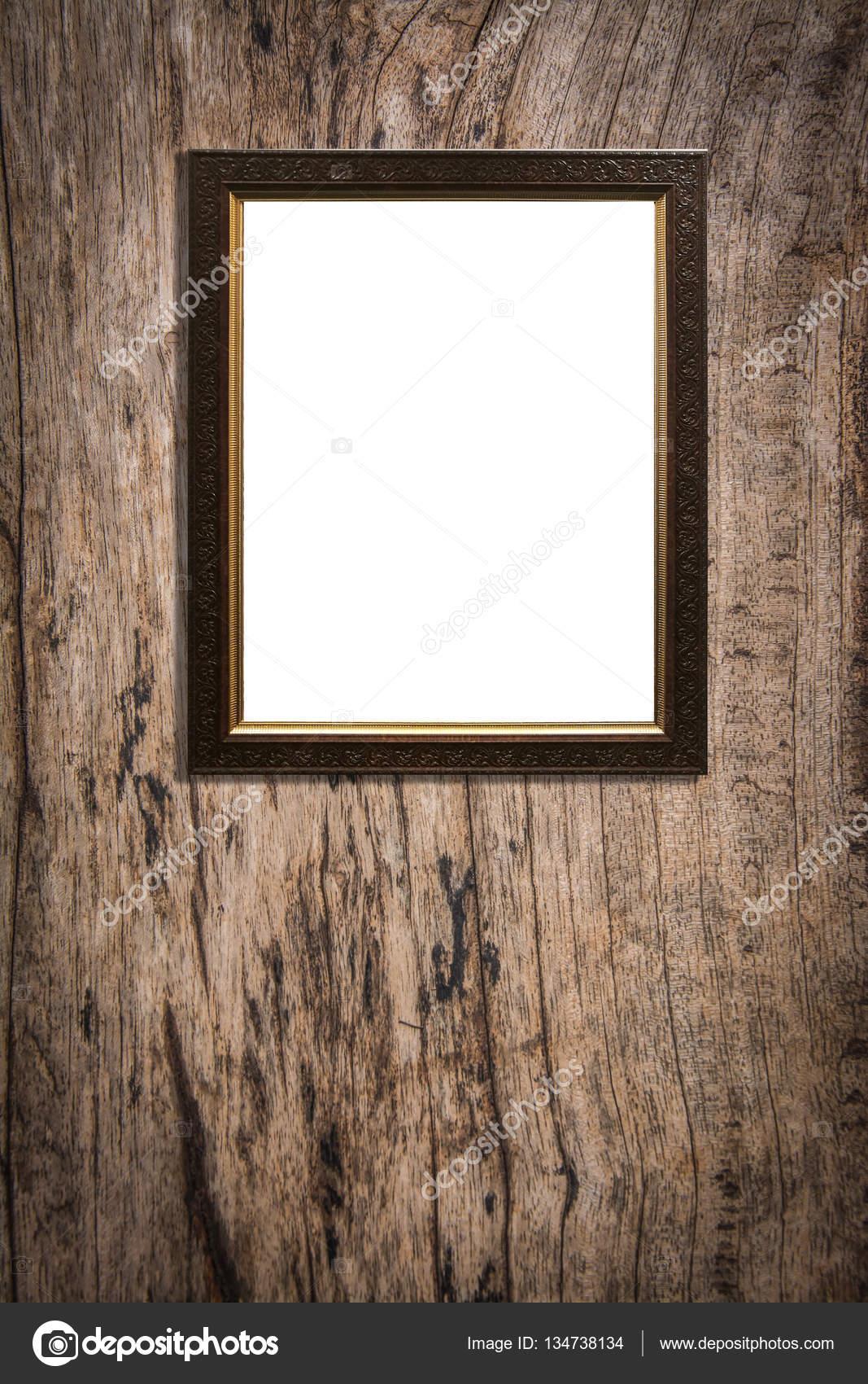 marco de madera sobre fondo de madera vieja — Foto de stock ...