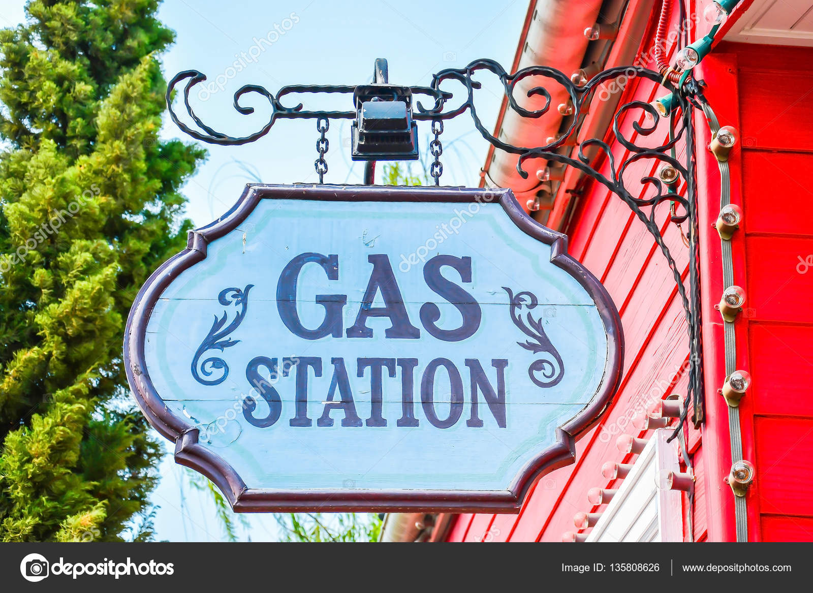 Texaco fuel  Gas station signs  Signs Gas Stations — Stock
