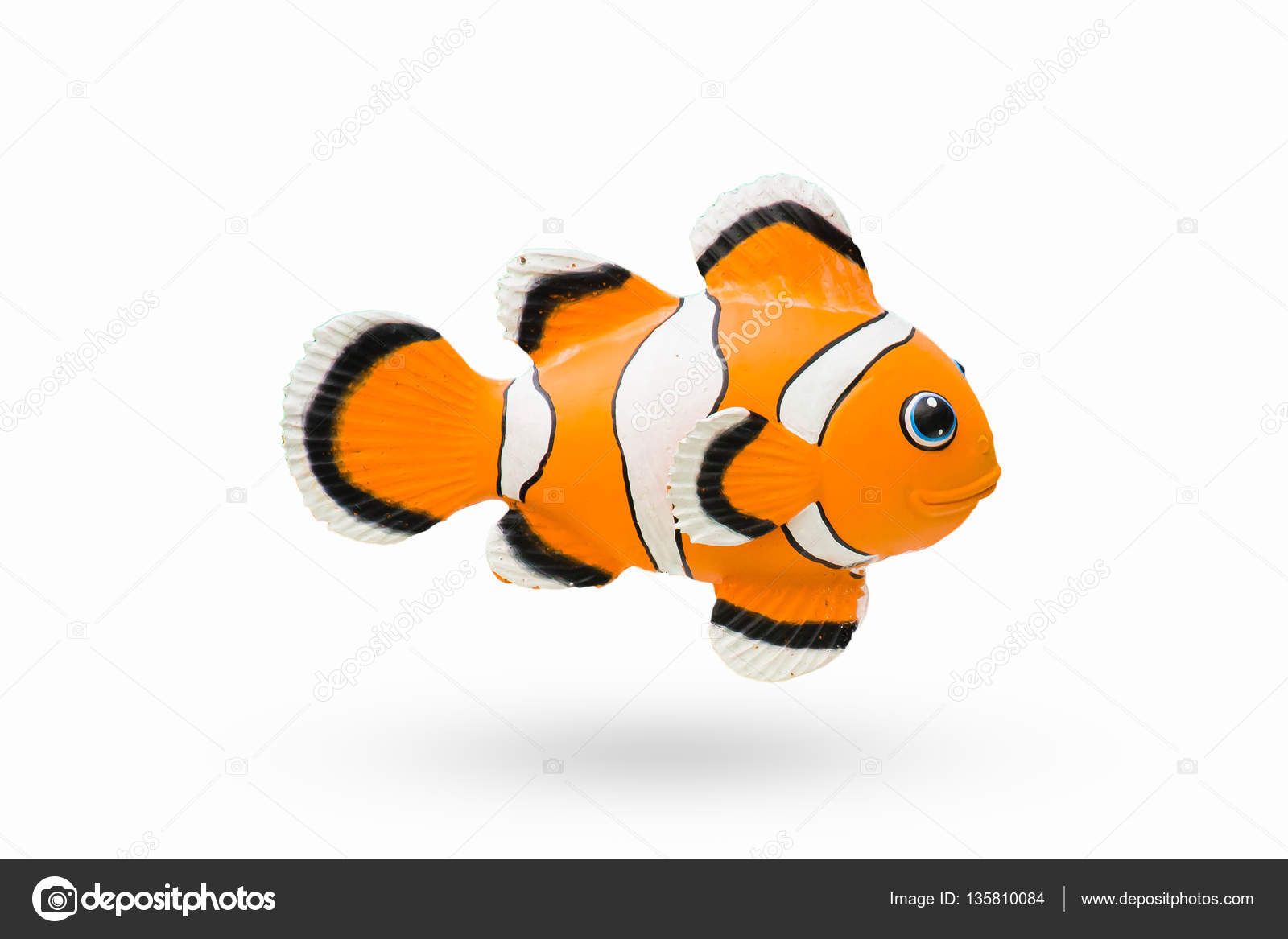 Estatua De Color De Dibujos Animados Peces Nemo Naranja