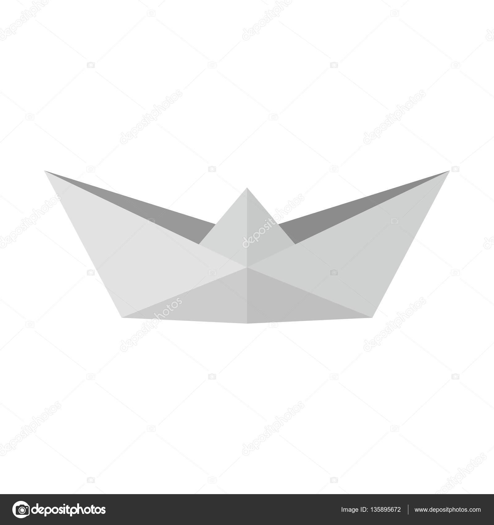 Origami Boat Paper Art Vector Stock