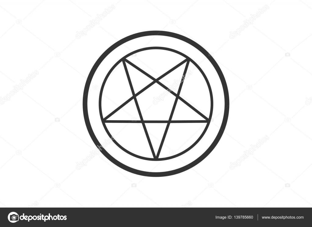 Pentagram In Cirkel Vector Stockvector Meenstockphotogmail