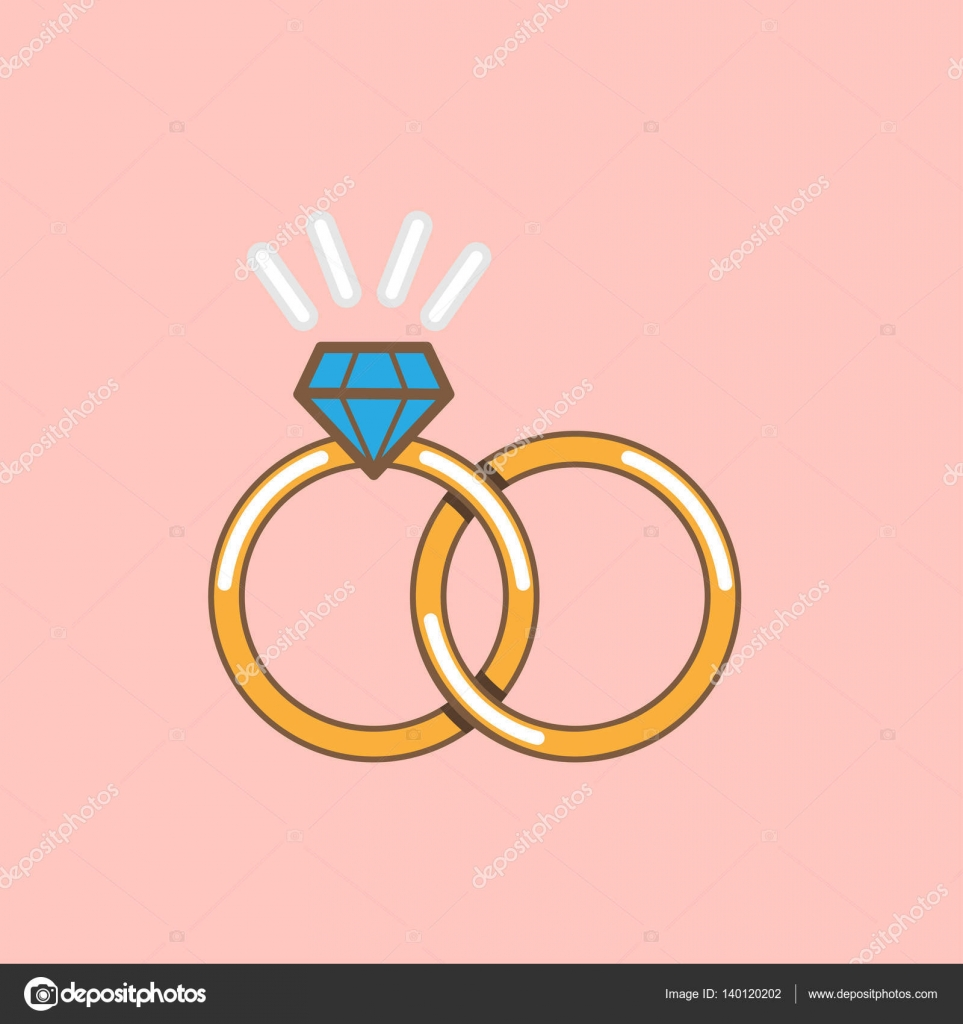 Wedding ring vector icon isolated — Stock Vector © meenstockphoto ...