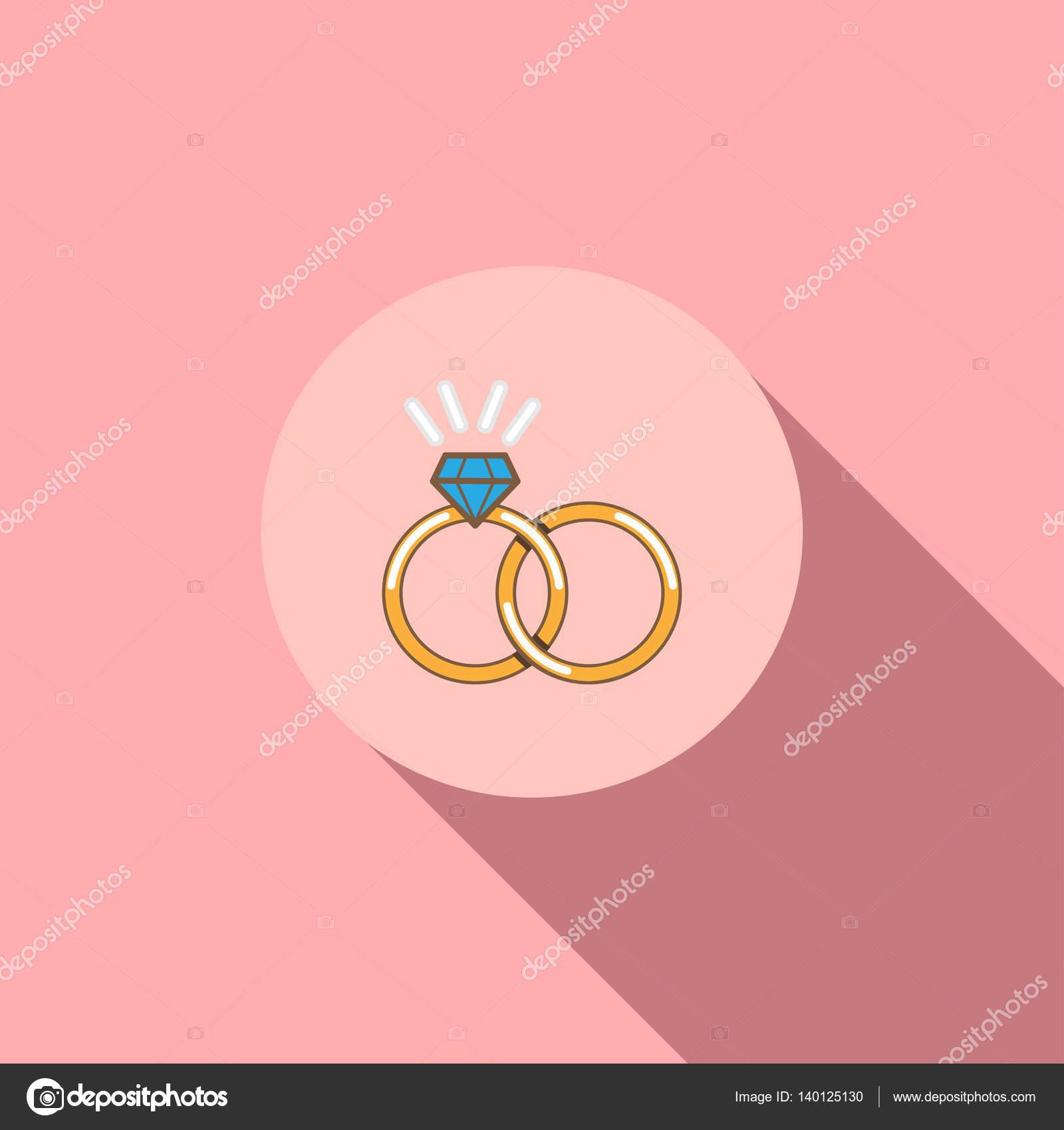 Wedding ring vector icon isolated — Stock Vector © meenstockphoto ...