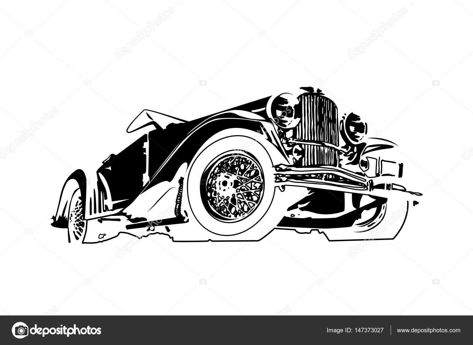 ヴィンテージ レトロなクラシックカーベクター デザイン ストック
