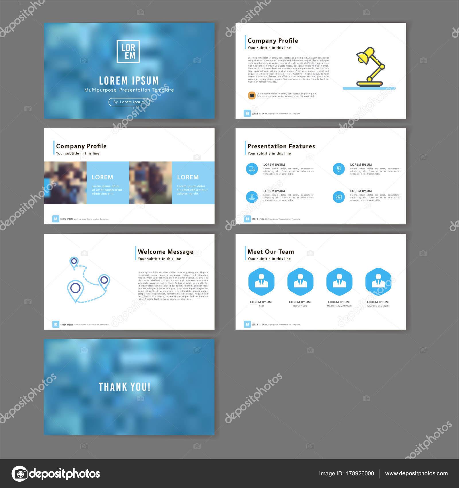 Keynote Presentación Multiusos Plantilla — Vector de stock ...