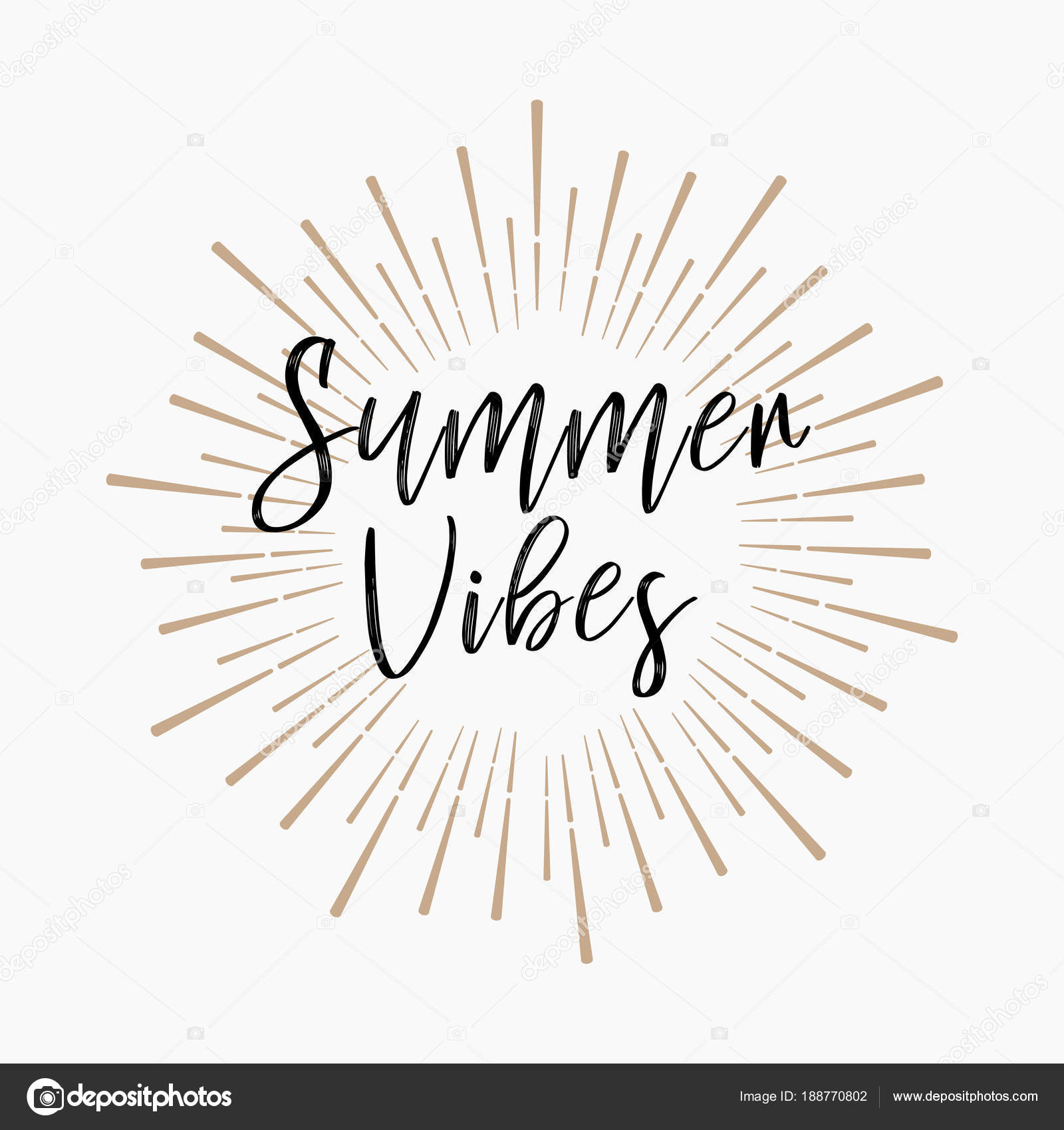 Summer Vibes Gold Glitter Background Stock Vector Marryicon