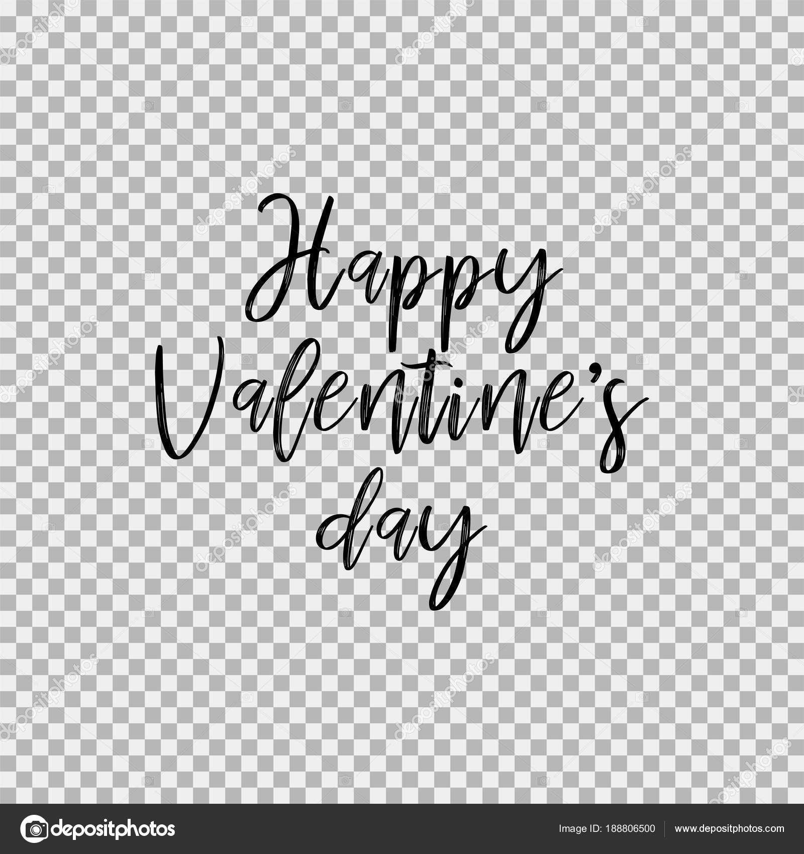 Happy Valentine S Day Transparent Background Stock Vector