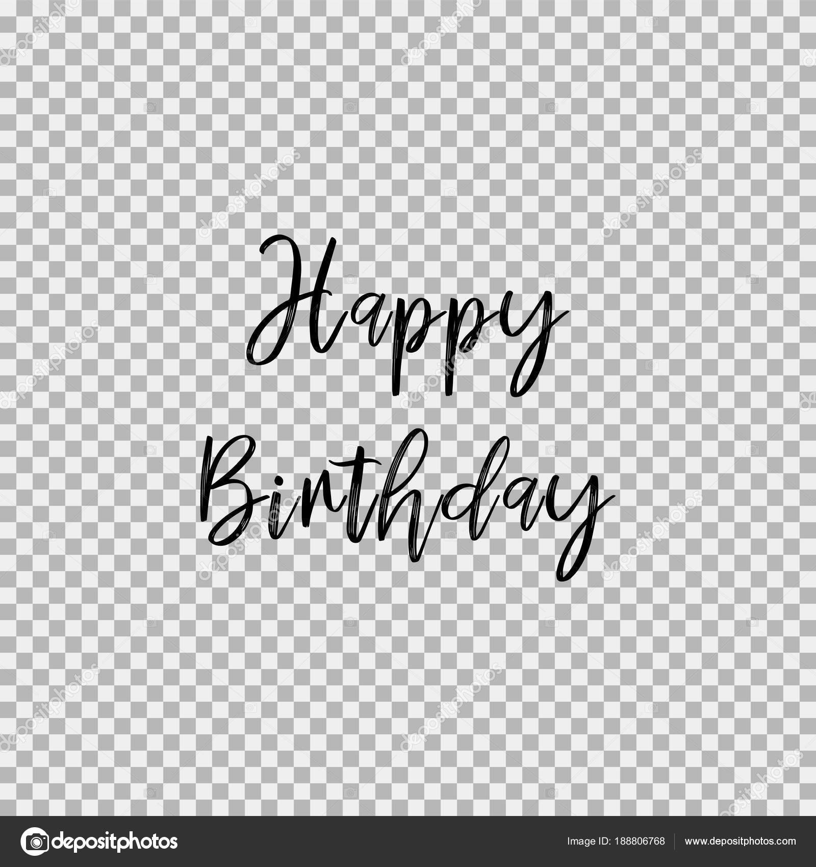 Happy Birthday Transparent Background Stock Vector